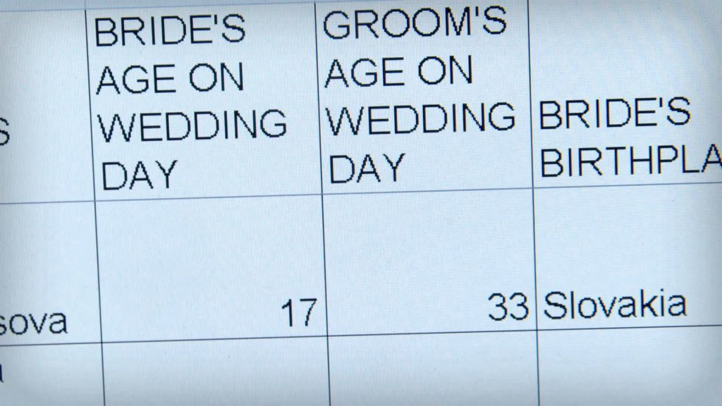 An extract from a marriage register in Glasgow. (BBC Scotland/PA Wire)