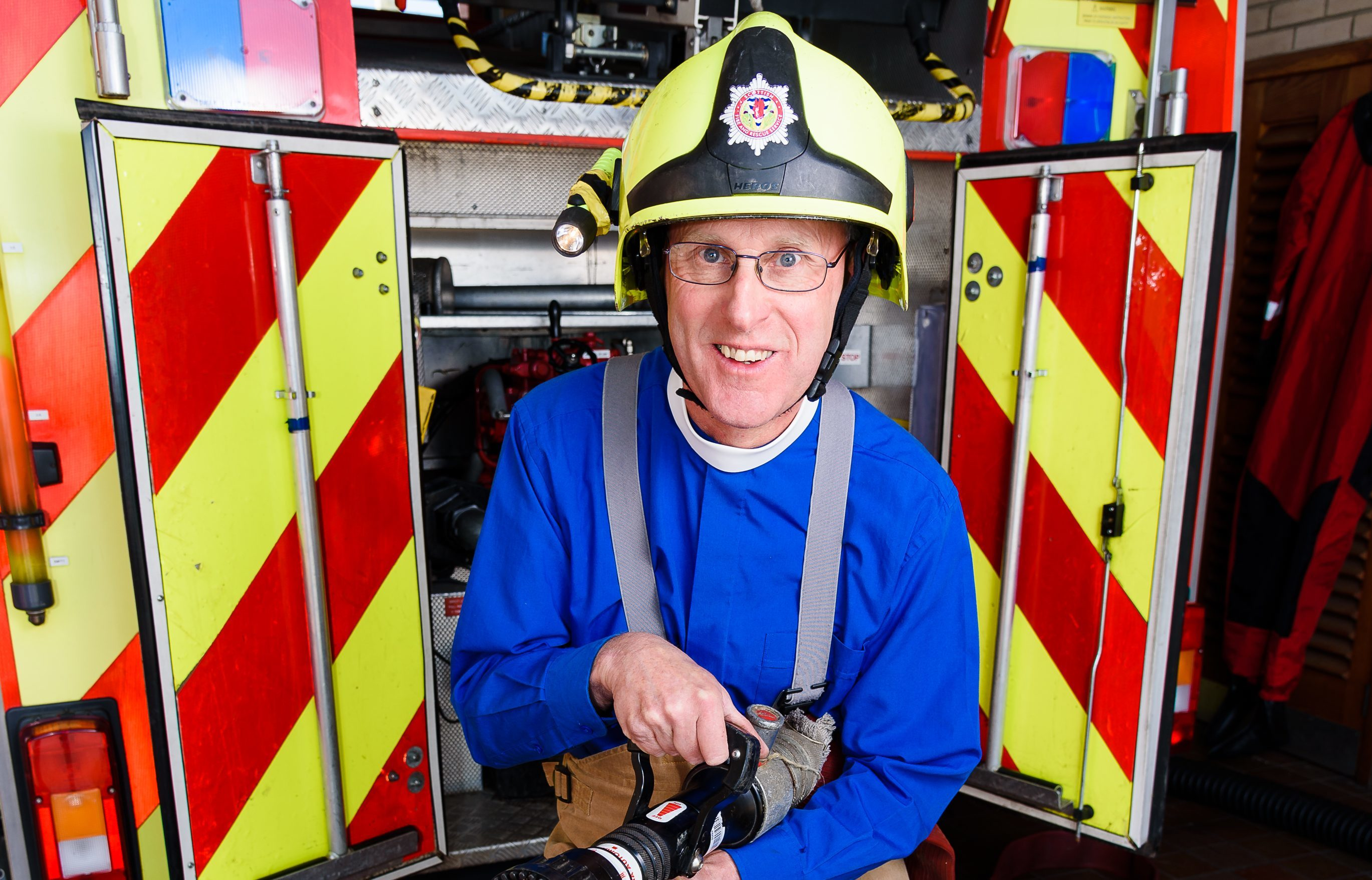 Rev Alex Currie is a full time minister and retained fireman (Stephen Jolly Photography)