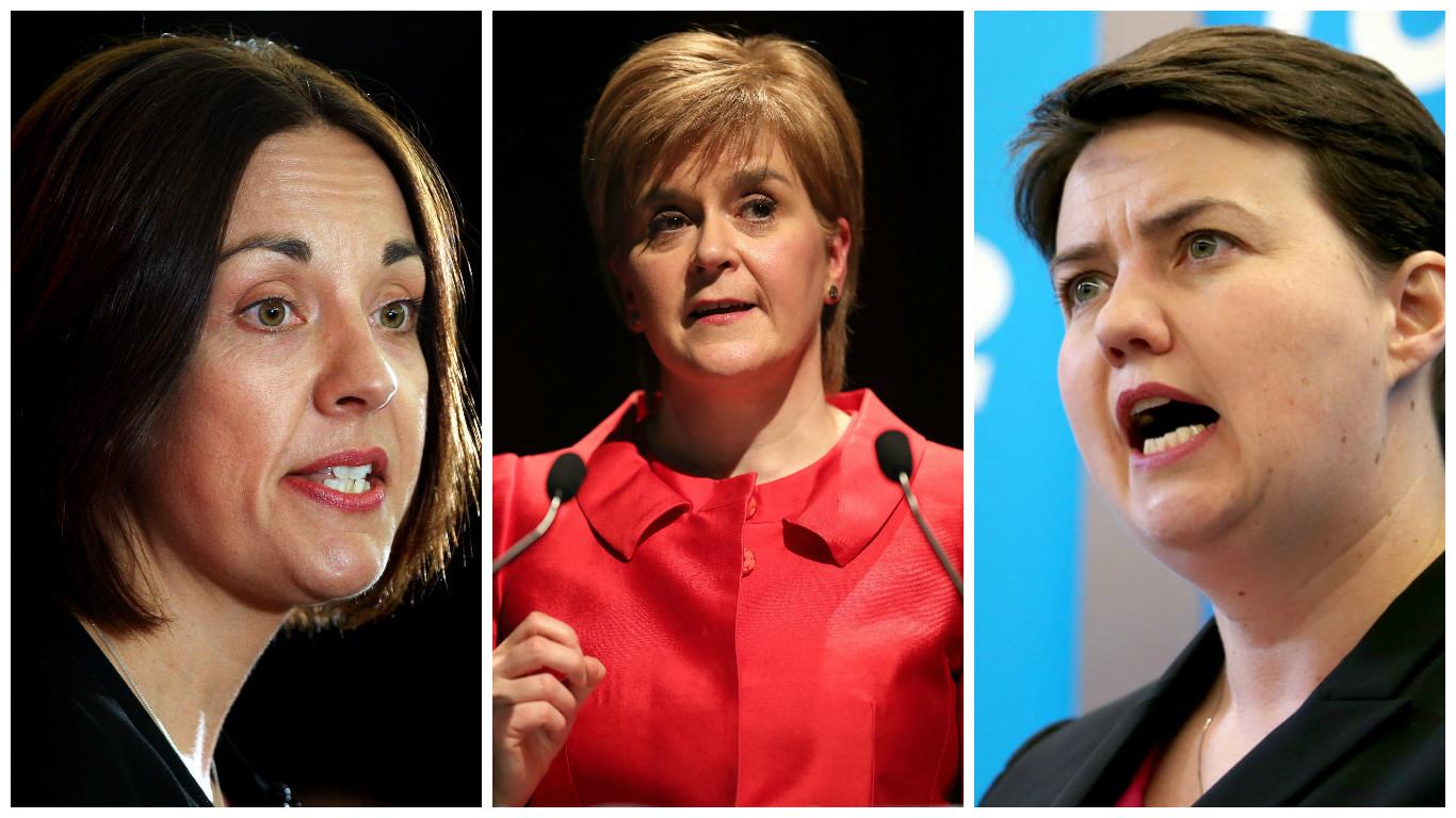 Leaders Kezia Dugdale, Nicola Sturgeon and Ruth Davidson (Kris Miller/DC Thomson & Jane Barlow/PA Wire)