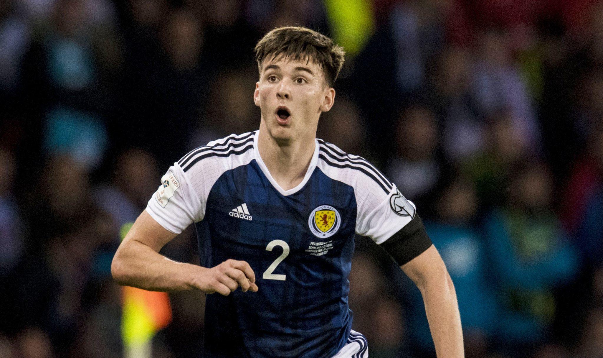 Kieran Tierney in action for Scotland (SNS Group)