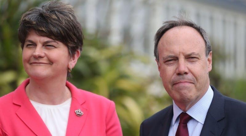 DUP leader Arlene Foster and deputy Nigel Dodds (PA)