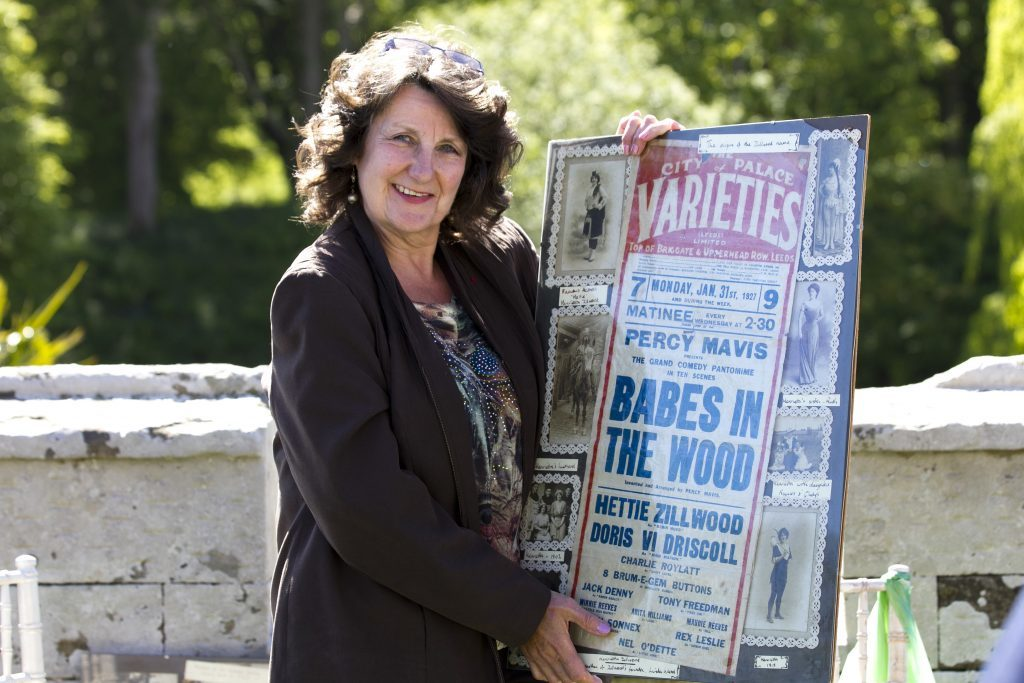 Linda Ward with her theatre photos/posters (Andrew Cawley / DC Thomson)