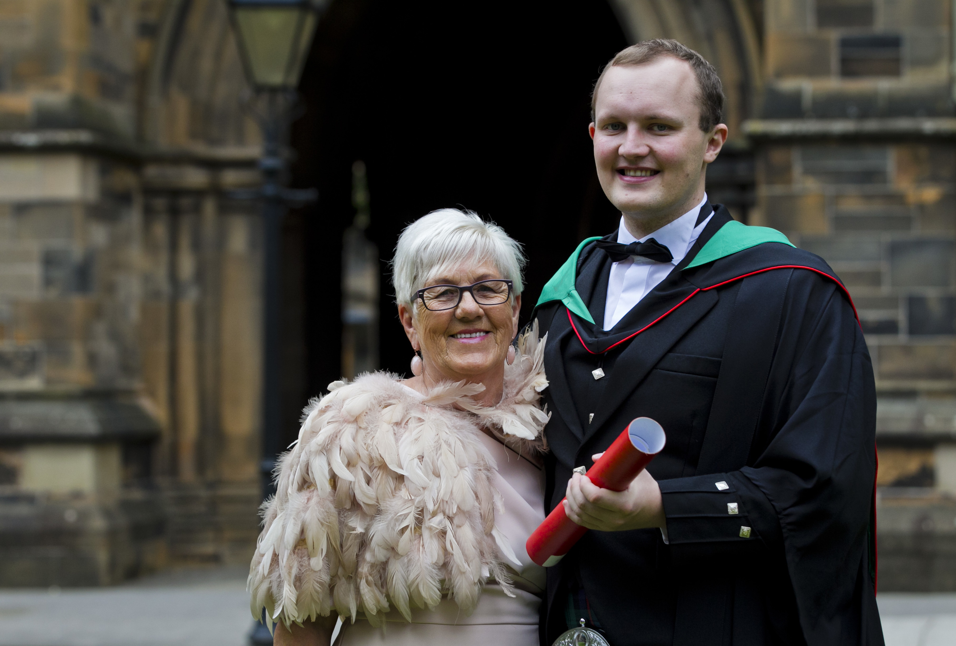 Jordan Bain graduated from Glasgow University (Andrew Cawley / DC Thomson)