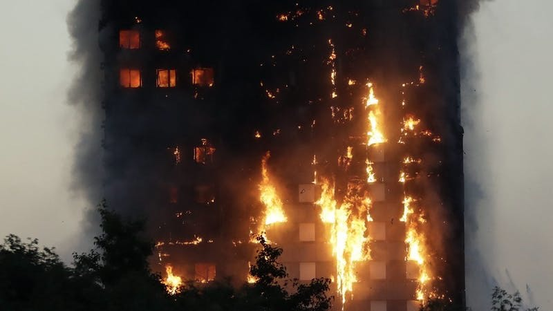 Fire engulfs the Grenfell Tower (PA)