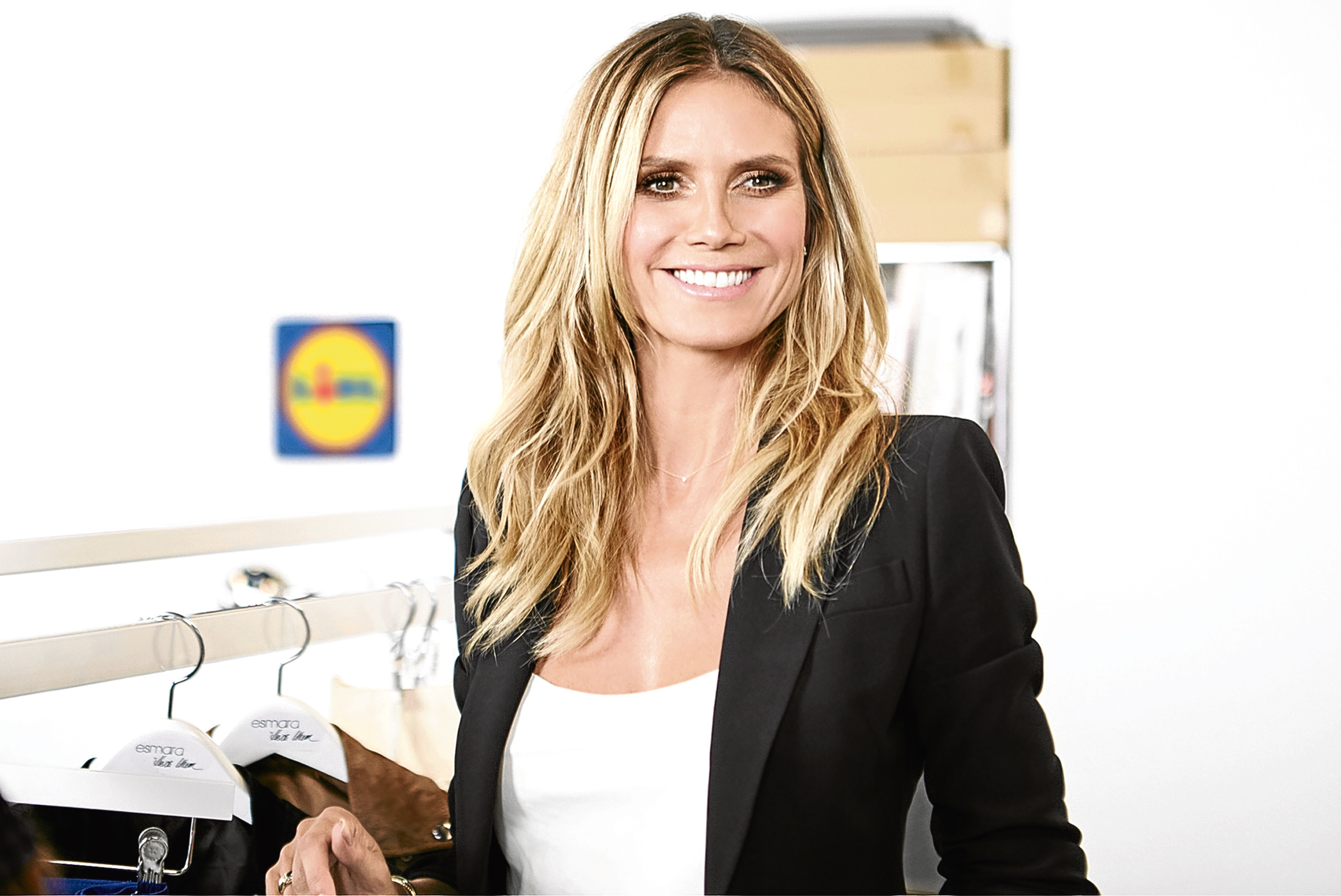 """German supermodel and designer Heidi Klum who is to collaborate with the store on a """"high end"""" fashion collection for UK shoppers. (Lidl/PA Wire)"""