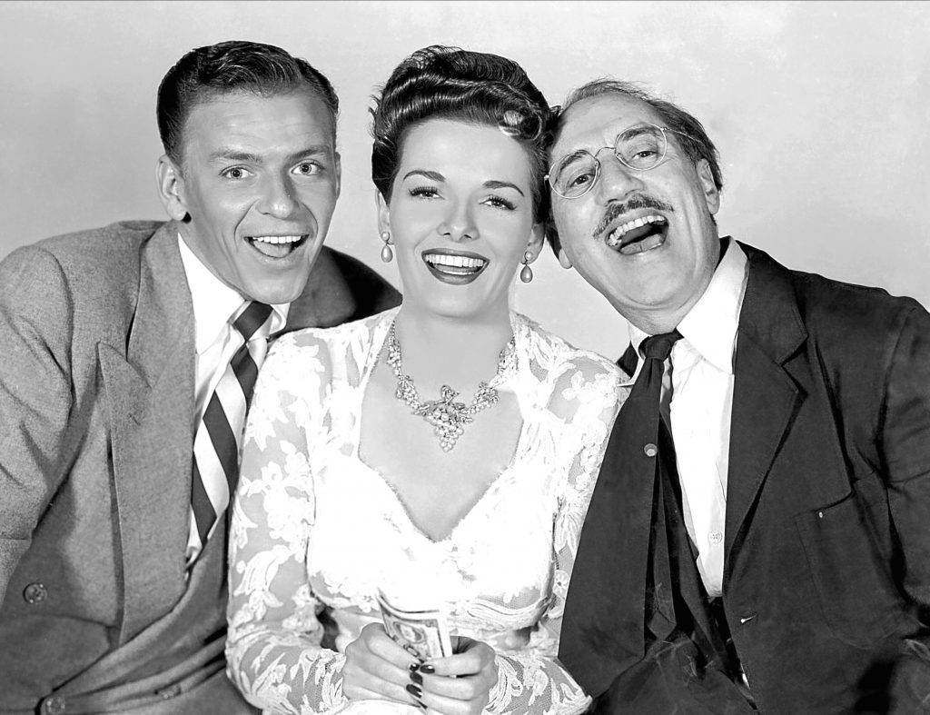 Frank Sinatra, Jane Russell and Groucho Marx in Double Dynamite, 1951 (Allstar/RKO)