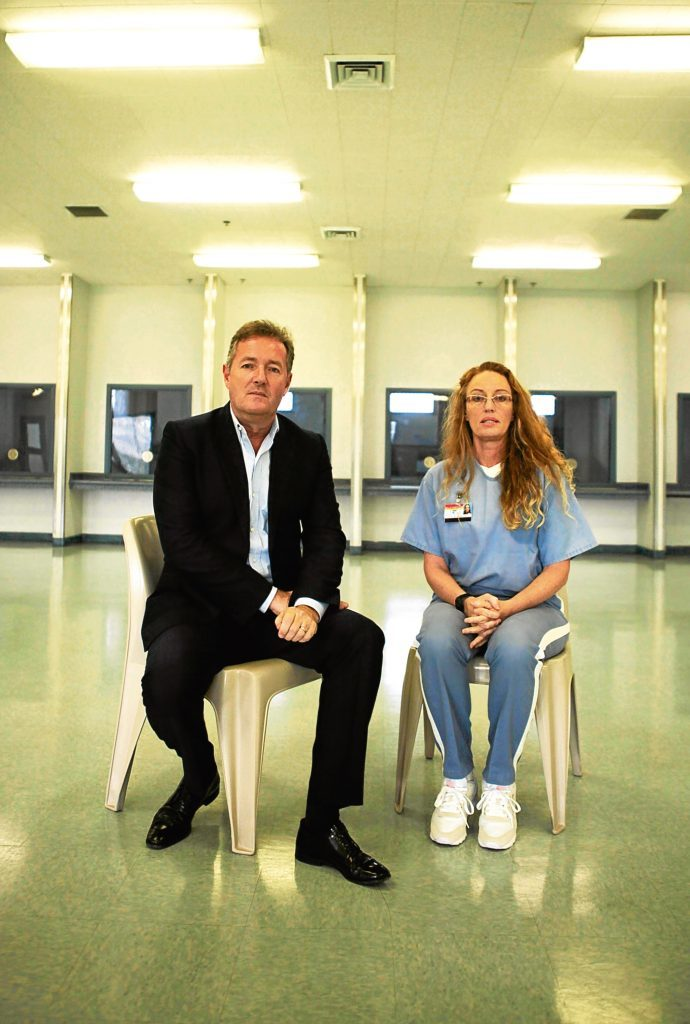 Piers Morgan and Rebecca Fenton at the Lowell Correctional Institution in Florida (ITV / Plum Pictures)