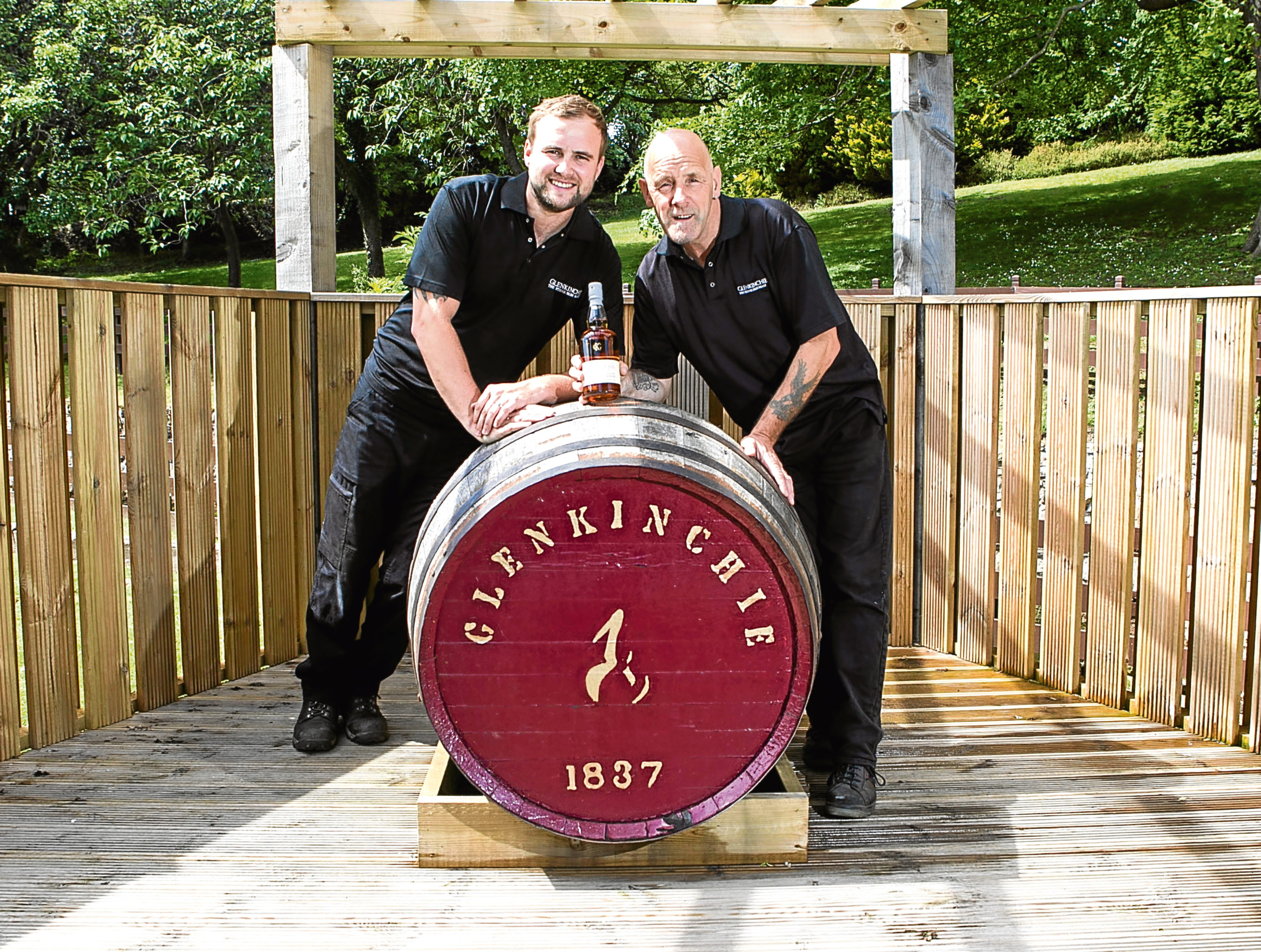 Shawn Christie and dad Adam are 3rd and 4th generation to work at Glenkinchie distillery (Sunday Post)