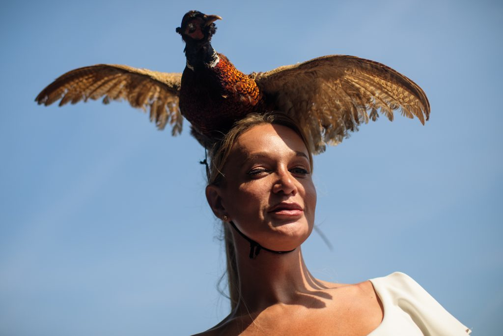A racegoer wearing a pheasant hat (Jack Taylor/Getty Images)