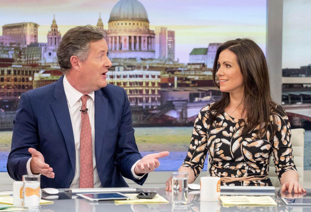 Piers Morgan and Susanna Reid on GMB (ITV)