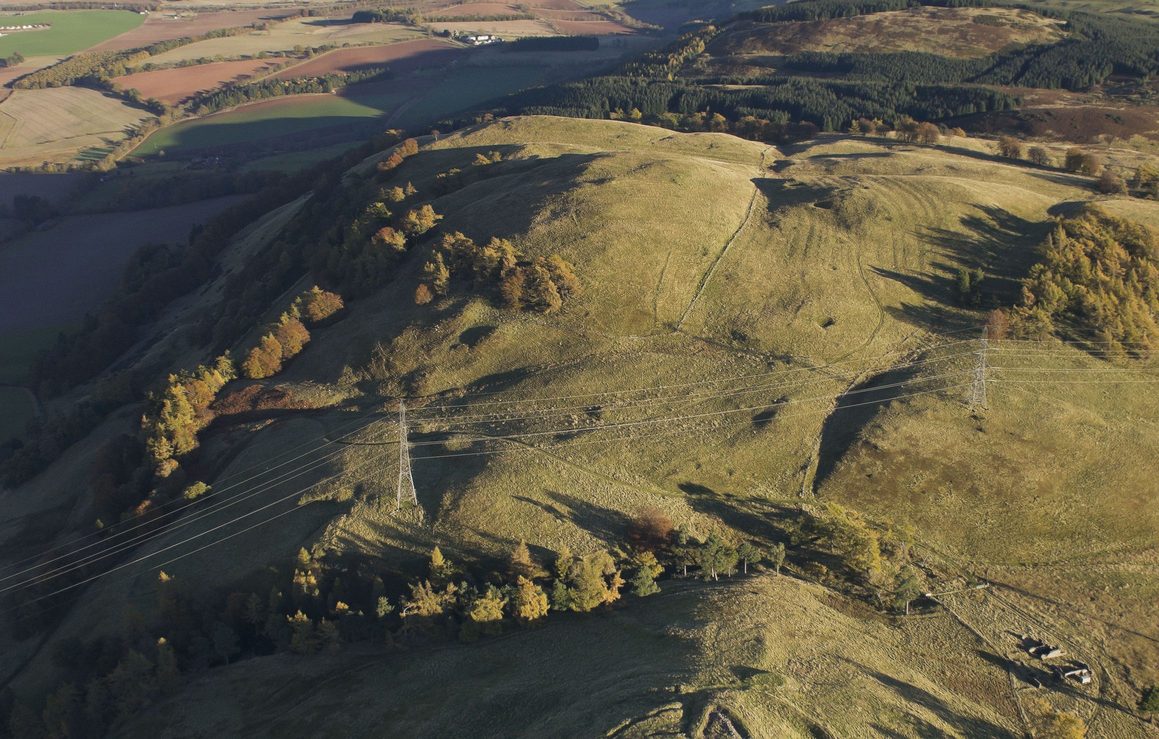 Castlelaw hill fort in Midlothian (Kieran Baxter/Arts and Humanities Research Council/PA Wire)