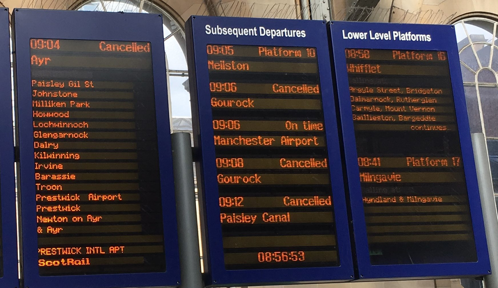 Services cancelled