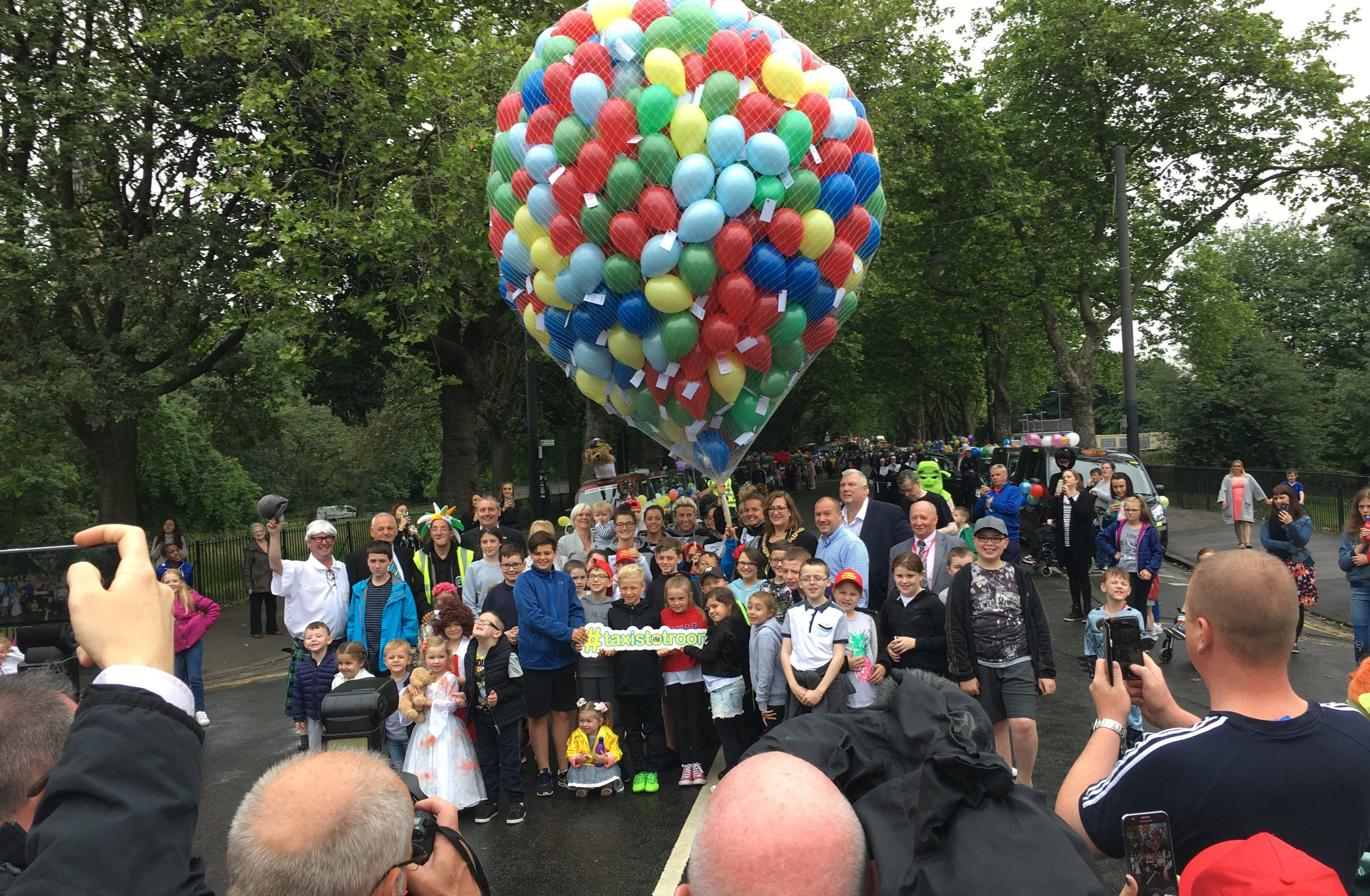 The balloon release (Ross Crae / DC Thomson)