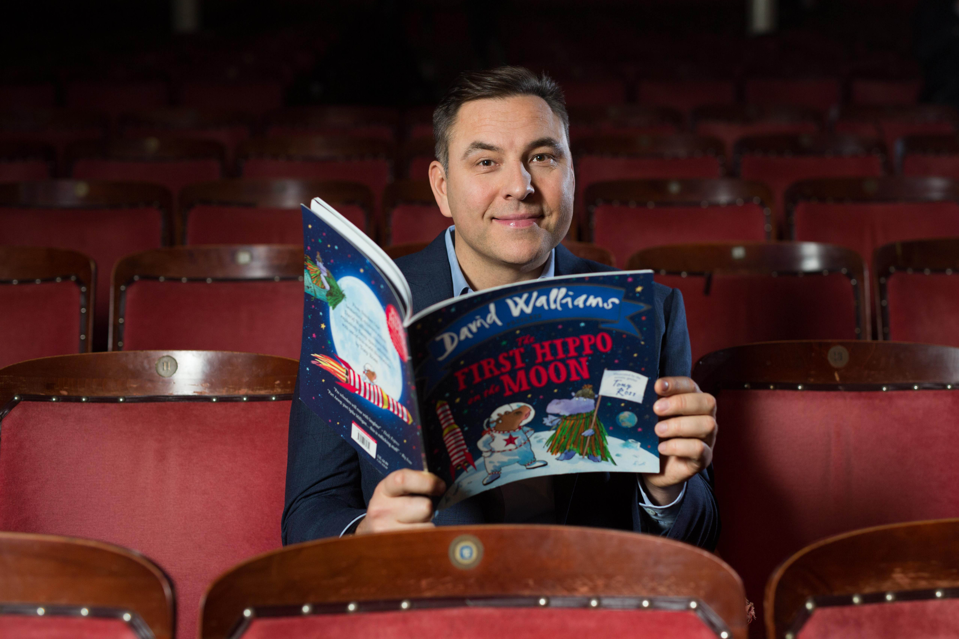 David Walliams' book The First Hippo on the Moon has been adapted for stage (PA Images)