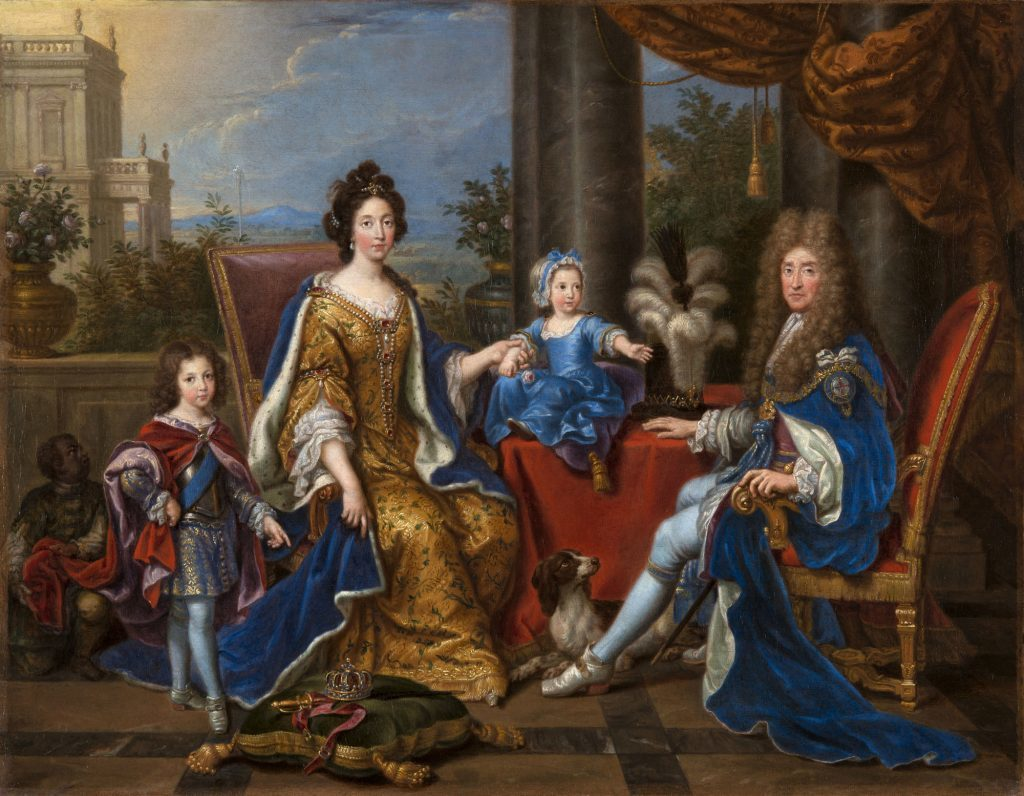 Pierre Mignard, James II and family, 1694 Royal Collection Trust -® Her Majesty Queen Elizabeth II.