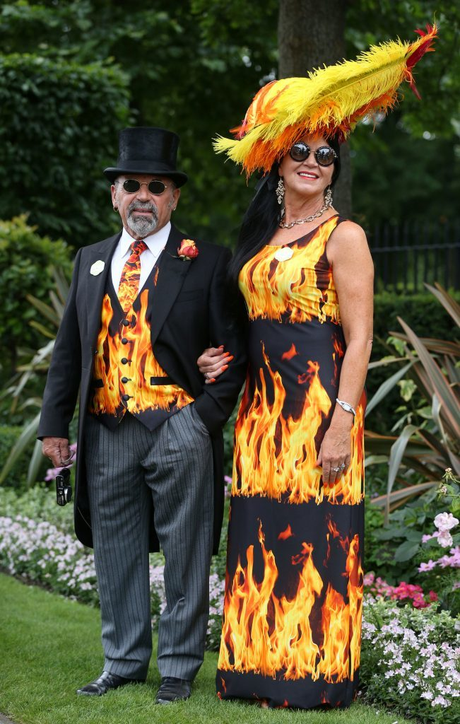 Brian Mann and Rebecca Johnson arriving during day three of Royal Ascot (Jonathan Brady/PA Wire)