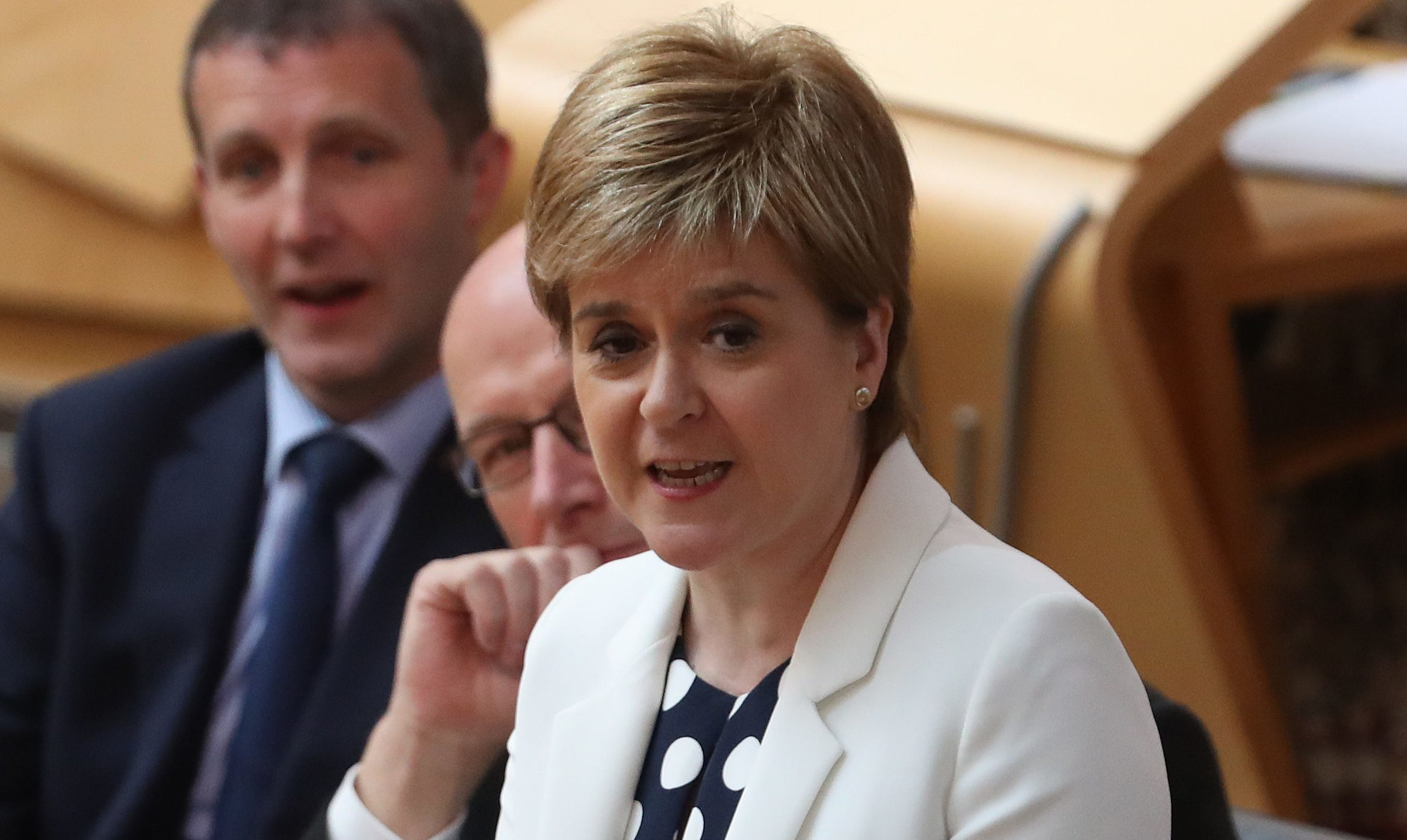 First Minister Nicola Sturgeon during FMQs at the Scottish Parliament (Andrew Milligan/PA Wire)