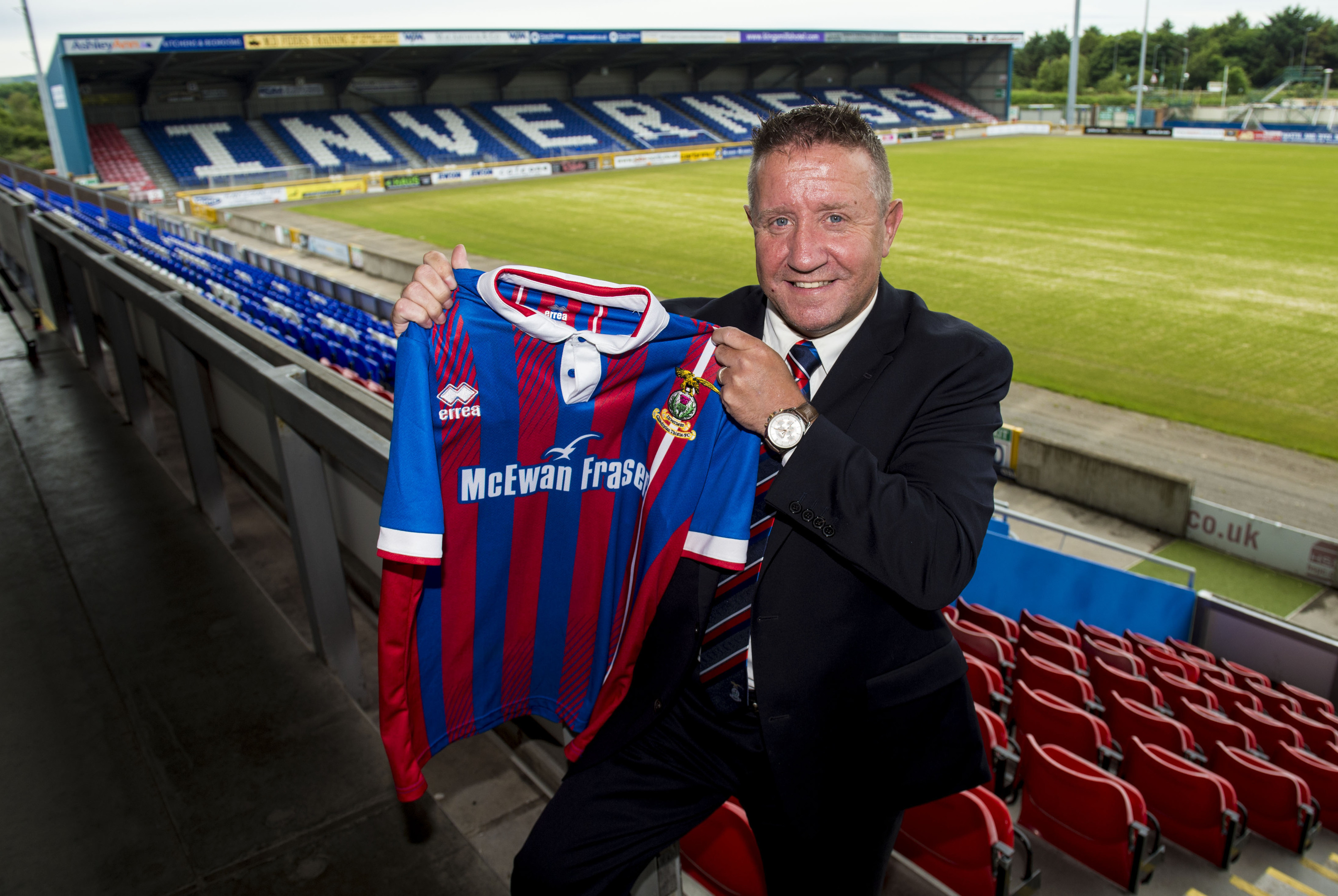 John Robertson is officially unveiled as the new Inverness Caledonian Thistle manager (SNS Group)
