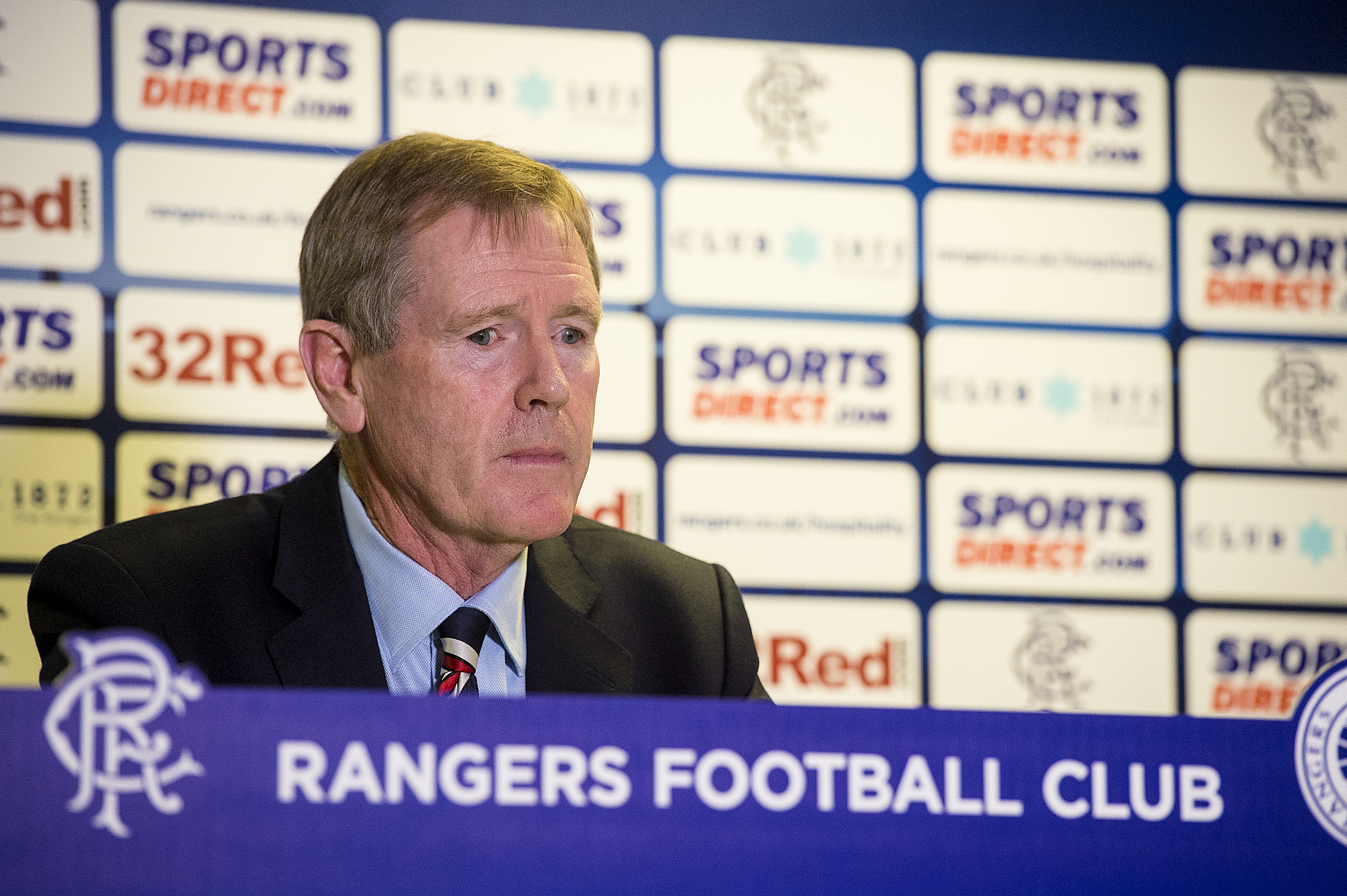 Rangers chairman Dave King speaks to the press at Ibrox (SNS Group)