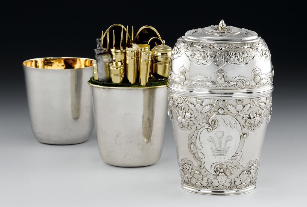 Silver travelling canteen of Prince Charles Edward Stuart c. 1740 (National Museums Scotland)