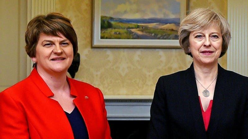 Arlene Foster and Theresa May (PA)