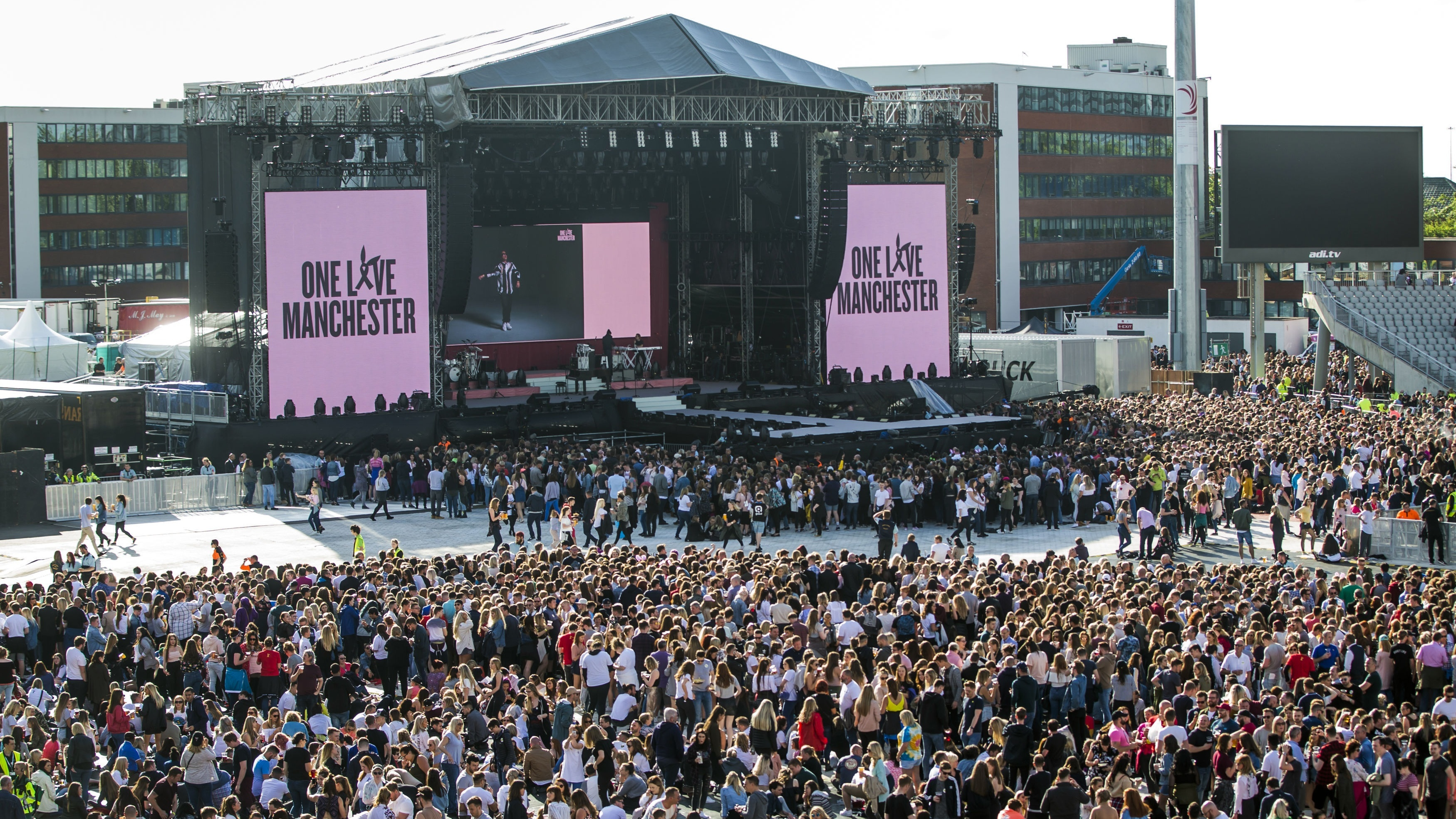General view during the One Love Manchester benefit concert for the victims of the Manchester Arena terror attack at Emirates Old Trafford, Greater Manchester (One Love Manchester/PA)