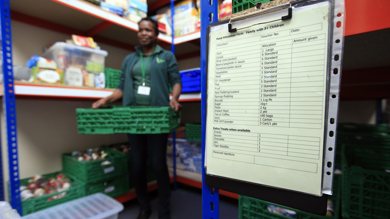 The Trussell Trust foodbank in Neasden (Jonathan Brady/PA)