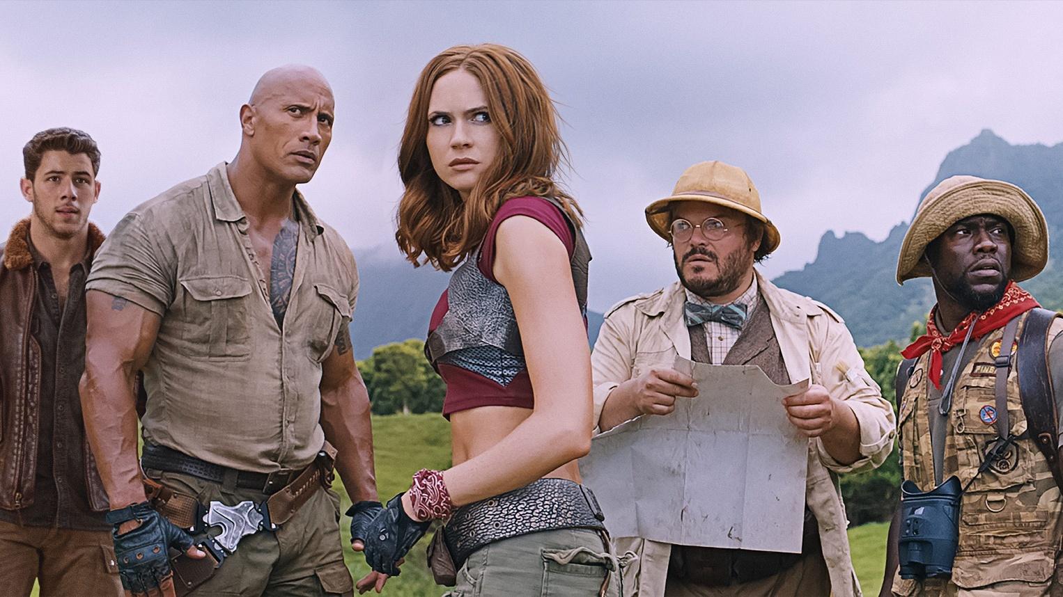 Karen Gillan joins Dwayne Johnson and Jack Black in action-packed first Jumanji trailer (Sony Pictures Releasing UK)