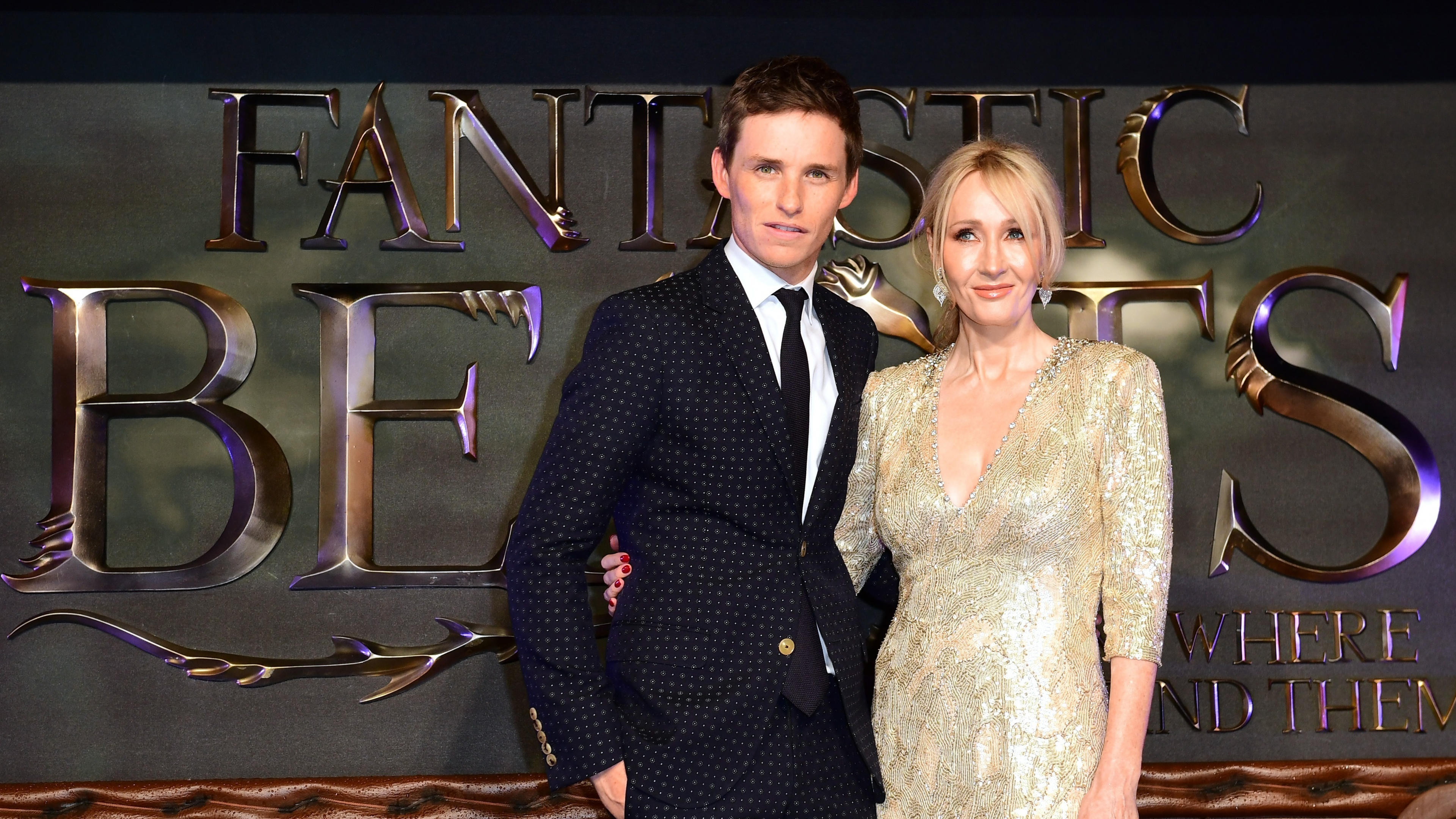 Eddie Redmayne and JK Rowling at Fantastic Beast Premiere. Harry Potter fans could be in with a chance of starring in the sequel