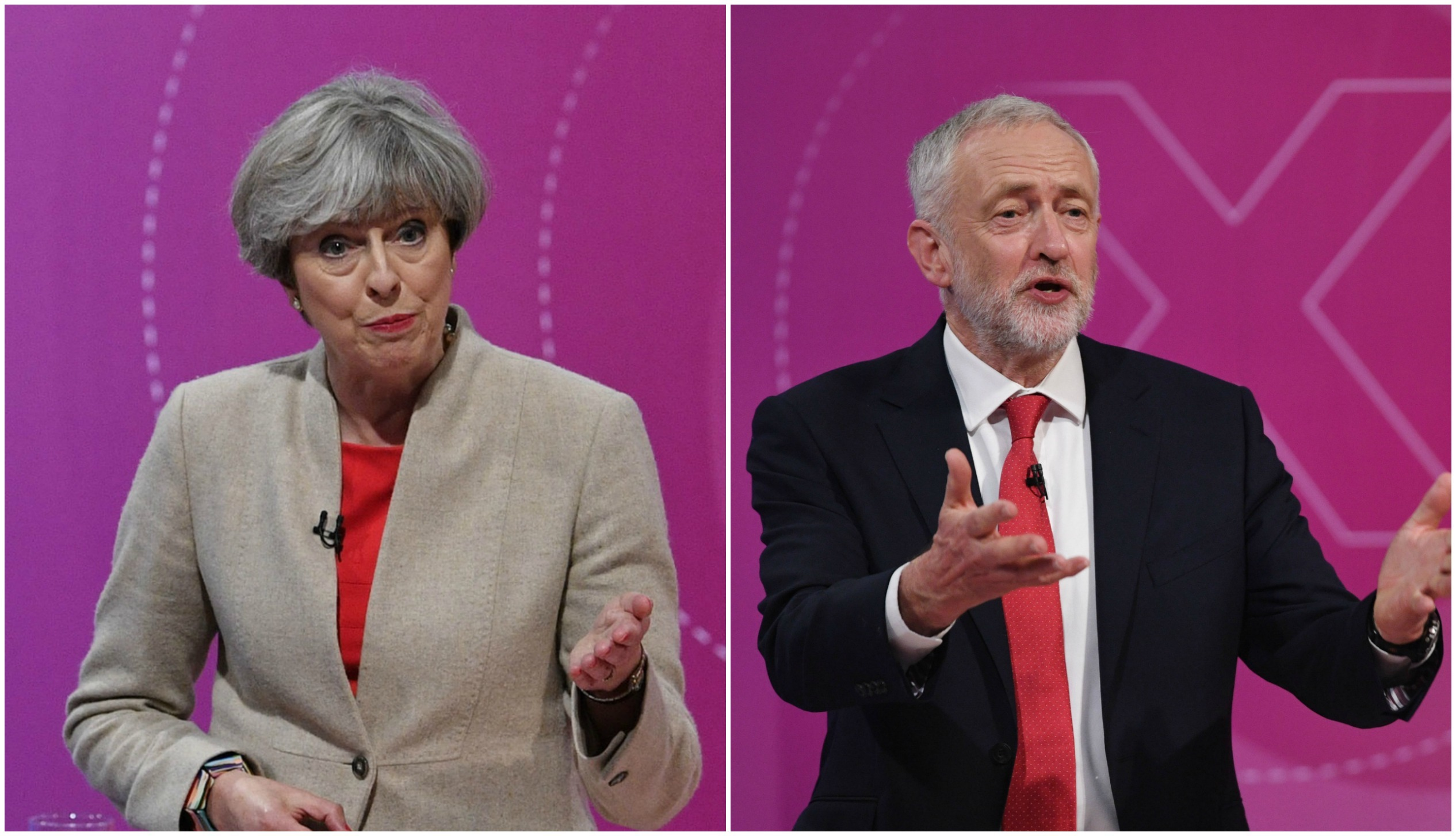 May and Corbyn faced a TV audience last night (BBC)