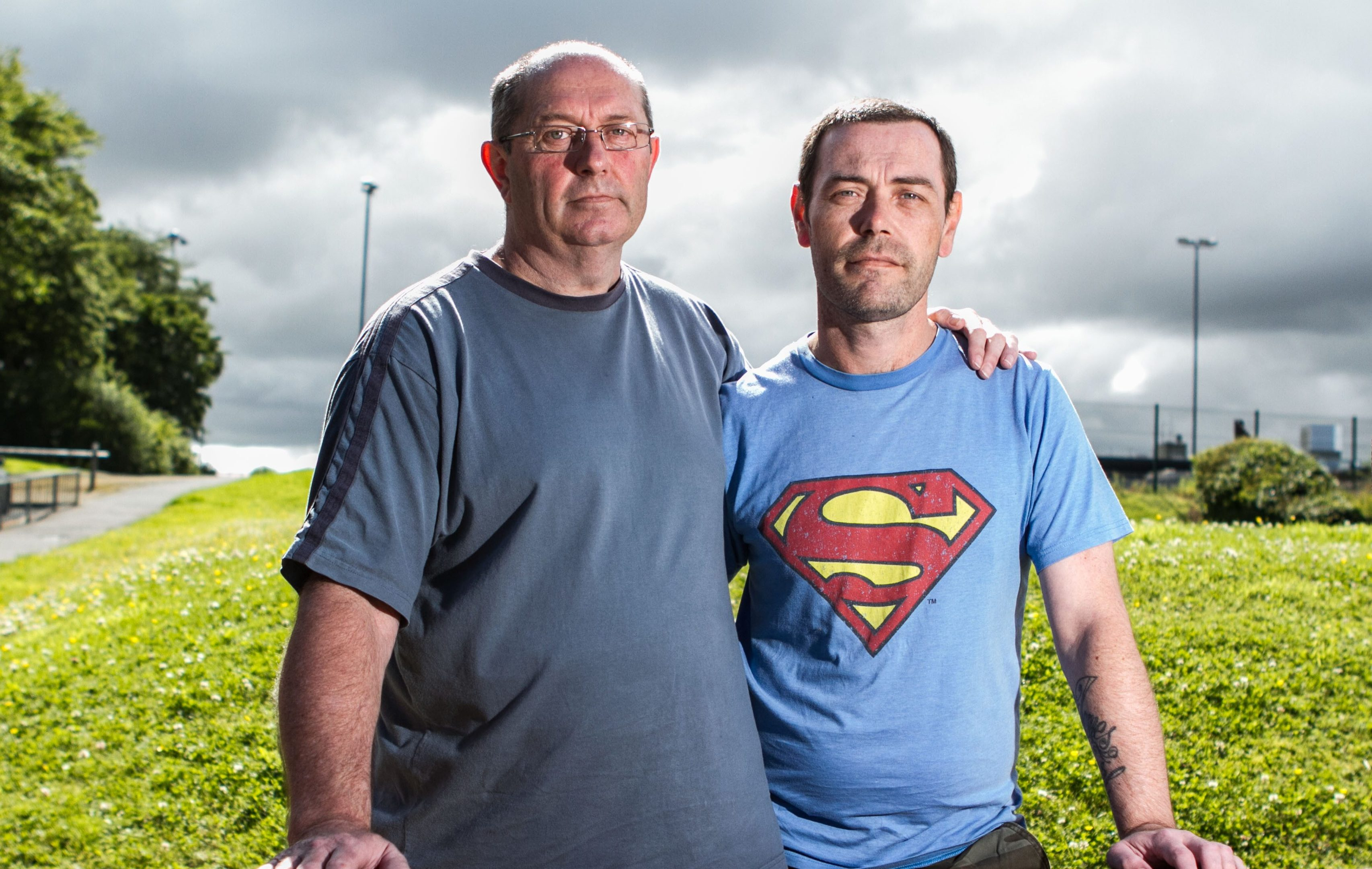 Stewart Rexter's father  Dennis and brother Karl (Chris Austin / DC Thomson)