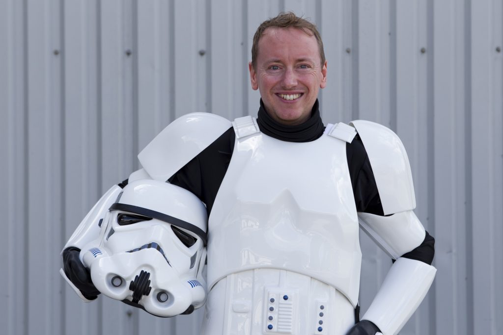 Reporter John Paul Breslin in costume (Andrew Cawley, Sunday Post)