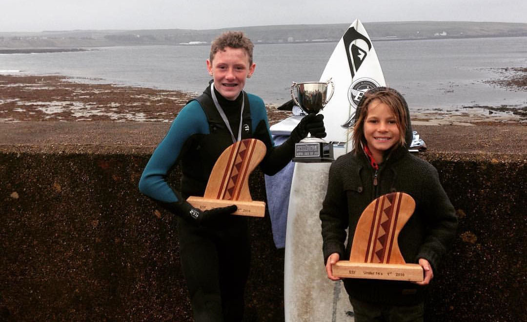 Ben Larg and Finn MacDonald are Scotland's U14 and U18 champions respectively