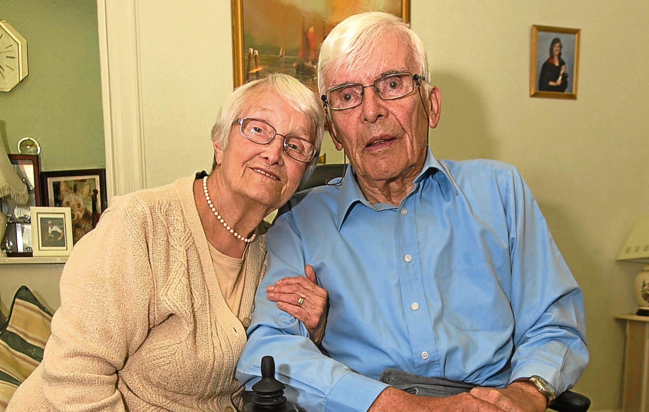 Frank and Nessie Marshall have just celebrated their 60th wedding anniversary (Andrew Cawley / DC Thomson)