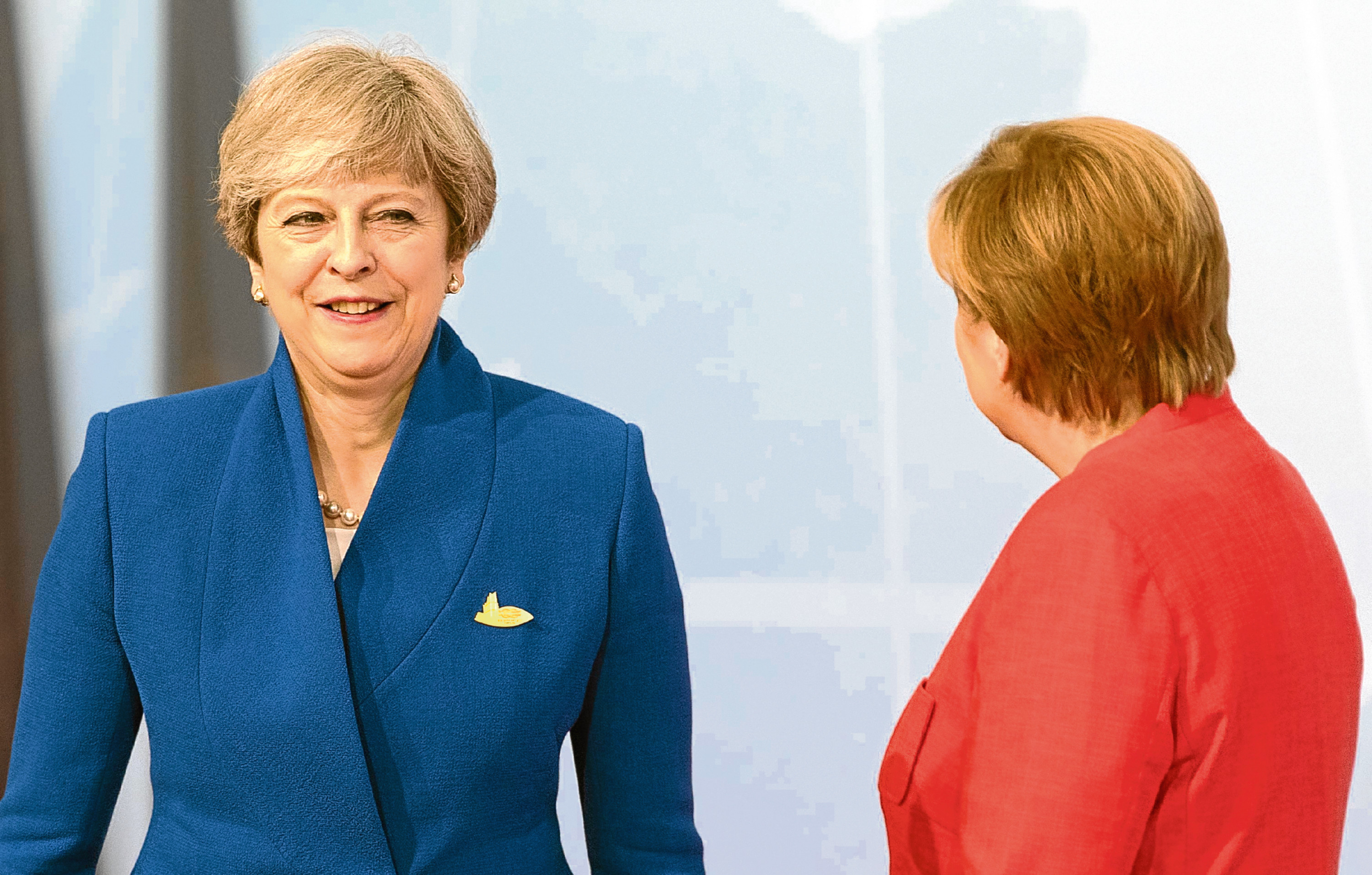 Prime Minister Theresa May and German Chancellor Angela Merkel attend (Matt Cardy/PA Wire)