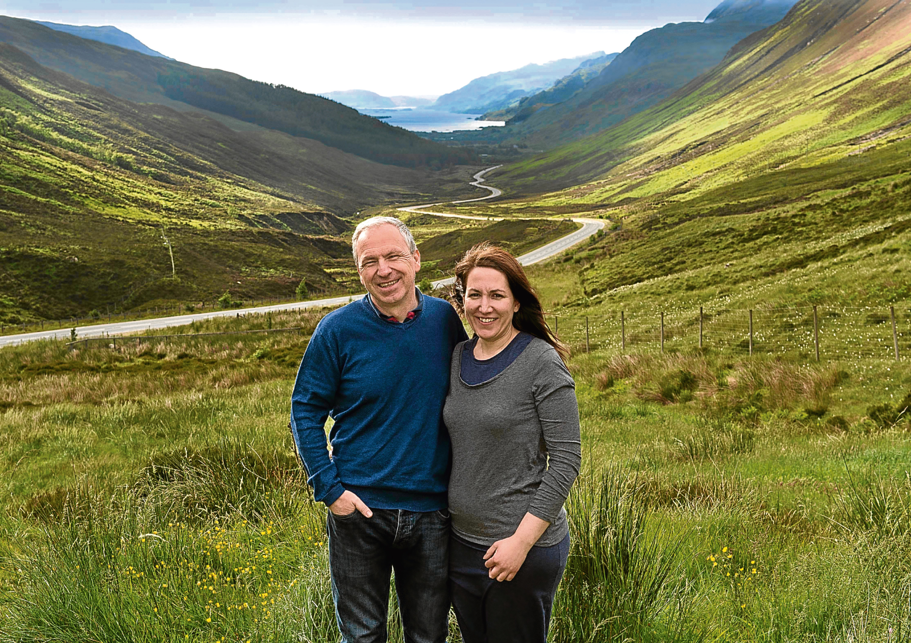NC500 couple David and Sharon McLean who loved the area after doing NC500 they moved up North and bought the Kinlochewe Filling Staion and Coffee Shop (Trevor Martin)