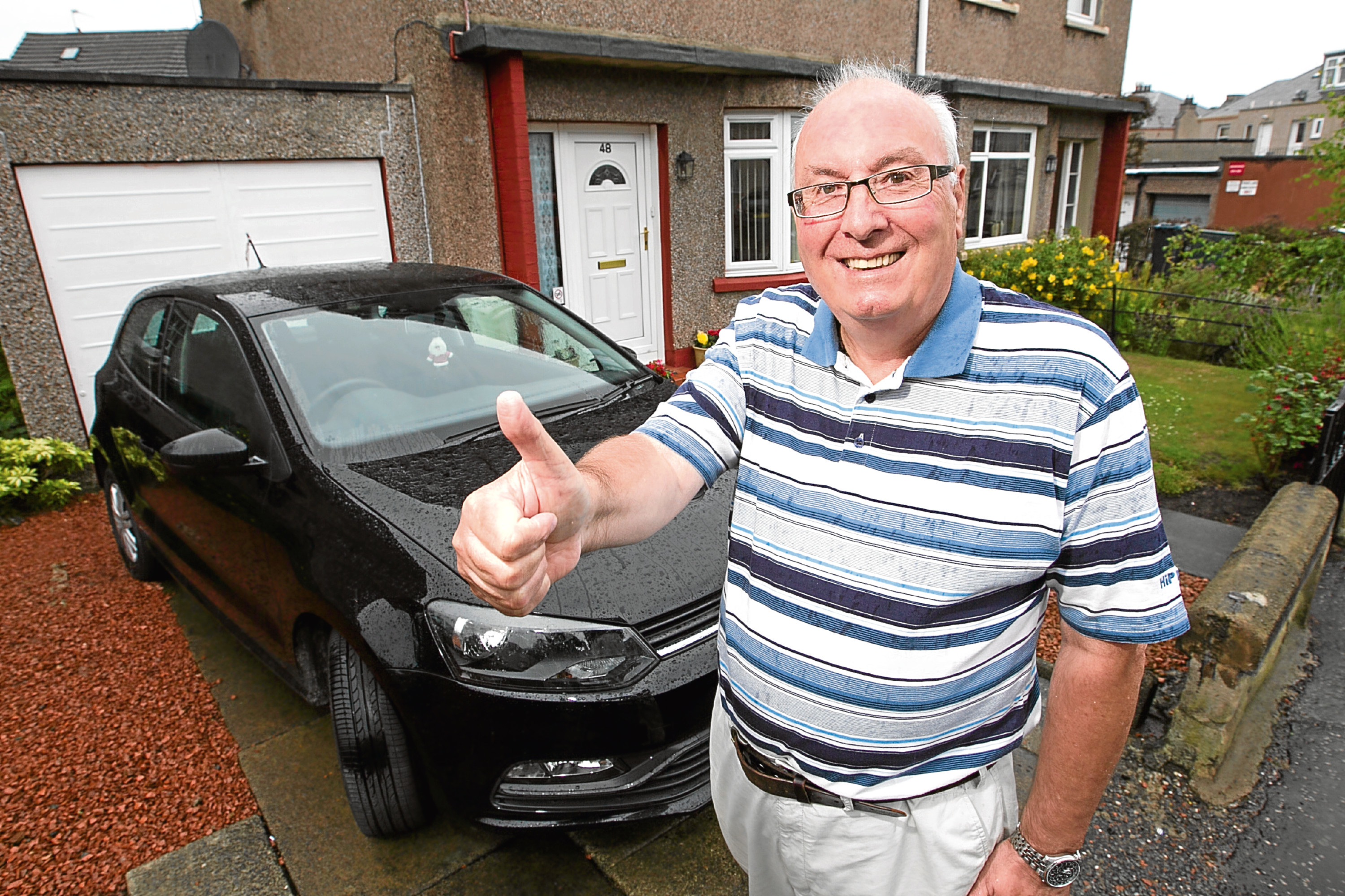 Archie Telford is happy after Raw Deal helped him with a parking fine (Andrew Cawley / DC Thomson)