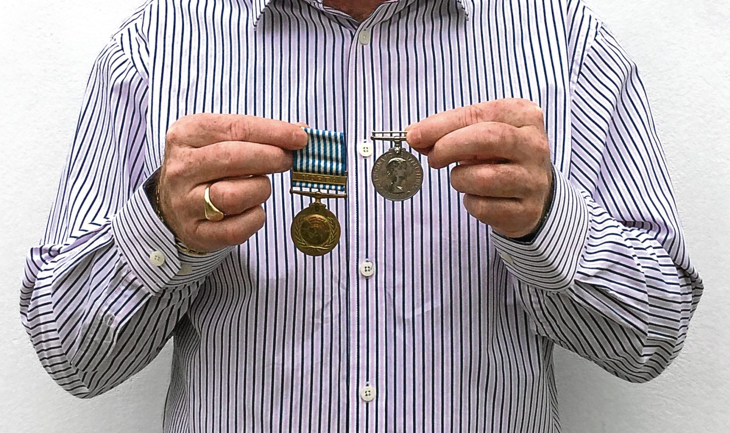 Peter Cottingham, from Glasgow, recently decided to mount his late father Andrew's war medals
