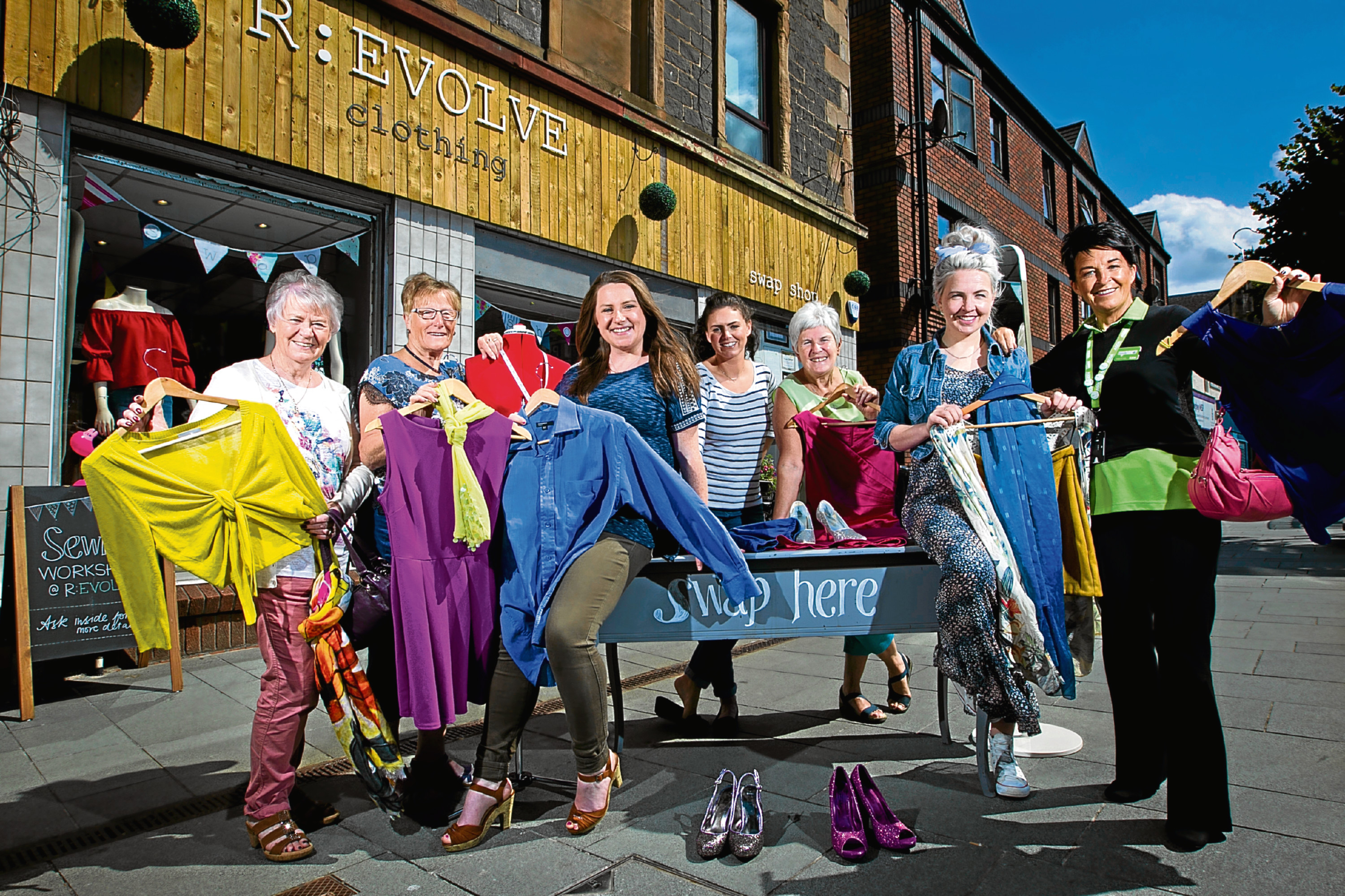 Staff and volunteers at R:Evolve, Rutherglen (Andrew Cawley / DC Thomson)
