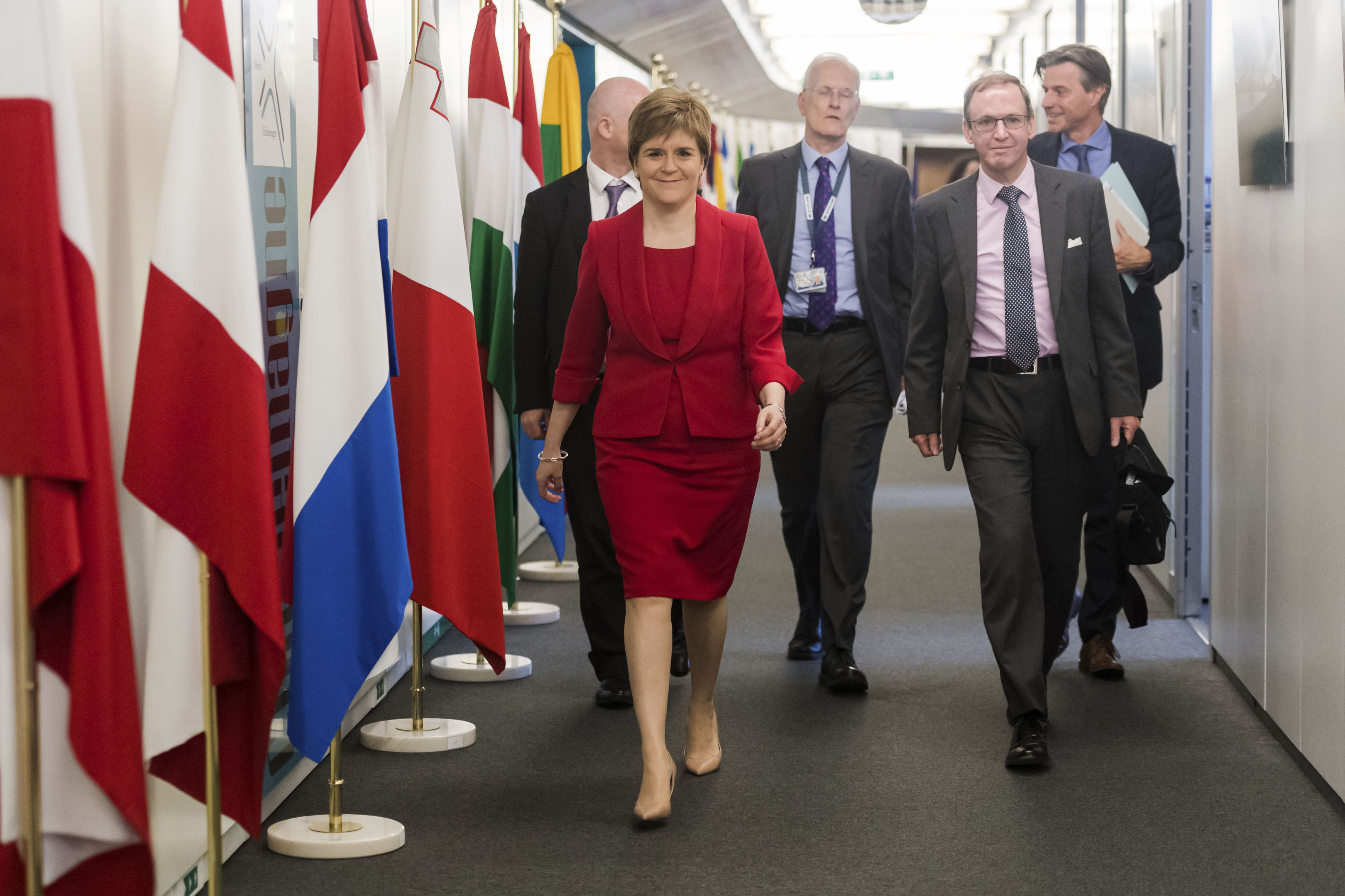 Scottish First Minister Nicola Sturgeon (AP Photo/Geert Vanden Wijngaert, Pool)