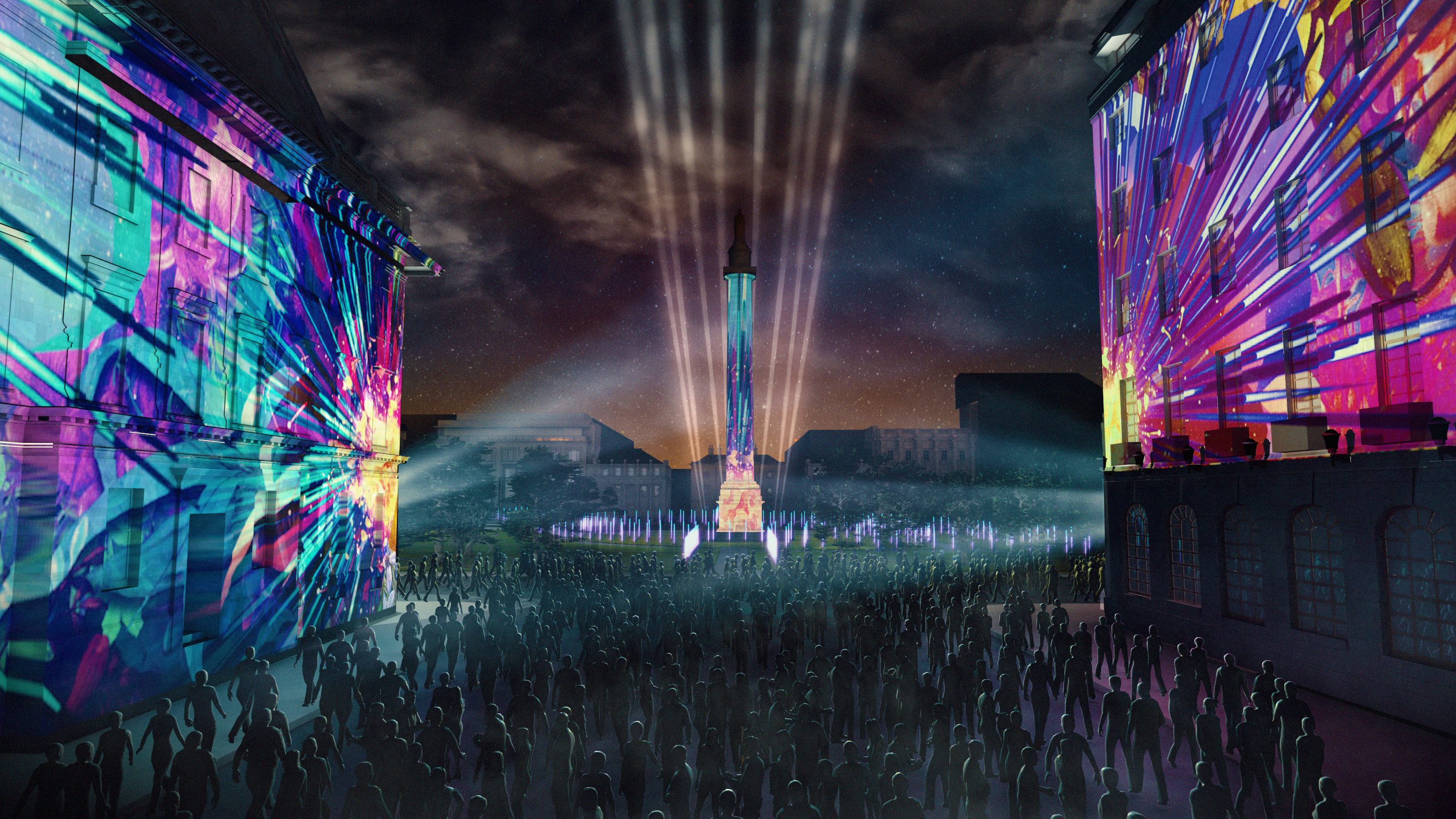 EIF press visualisation of what the event in Edinburgh's St Andrews Sq will look like (EIF)
