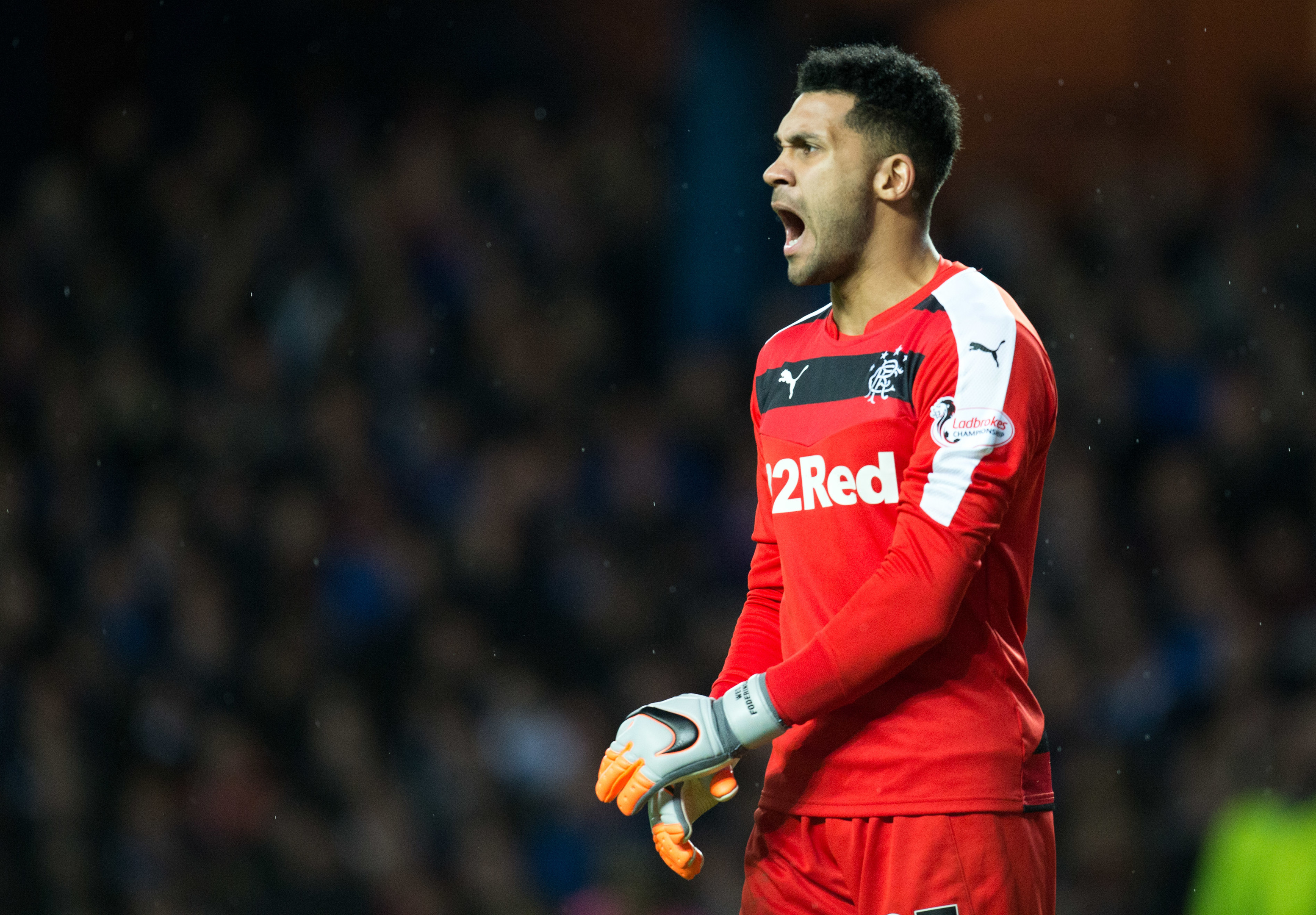 Wes Foderingham in action for Rangers (SNS Group)