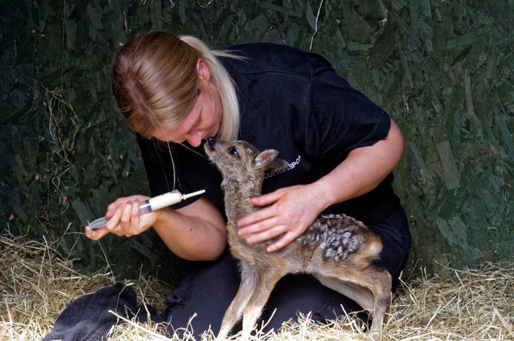 Martini and April Sorley, Wildlife Assistant (Colin Sneddon)