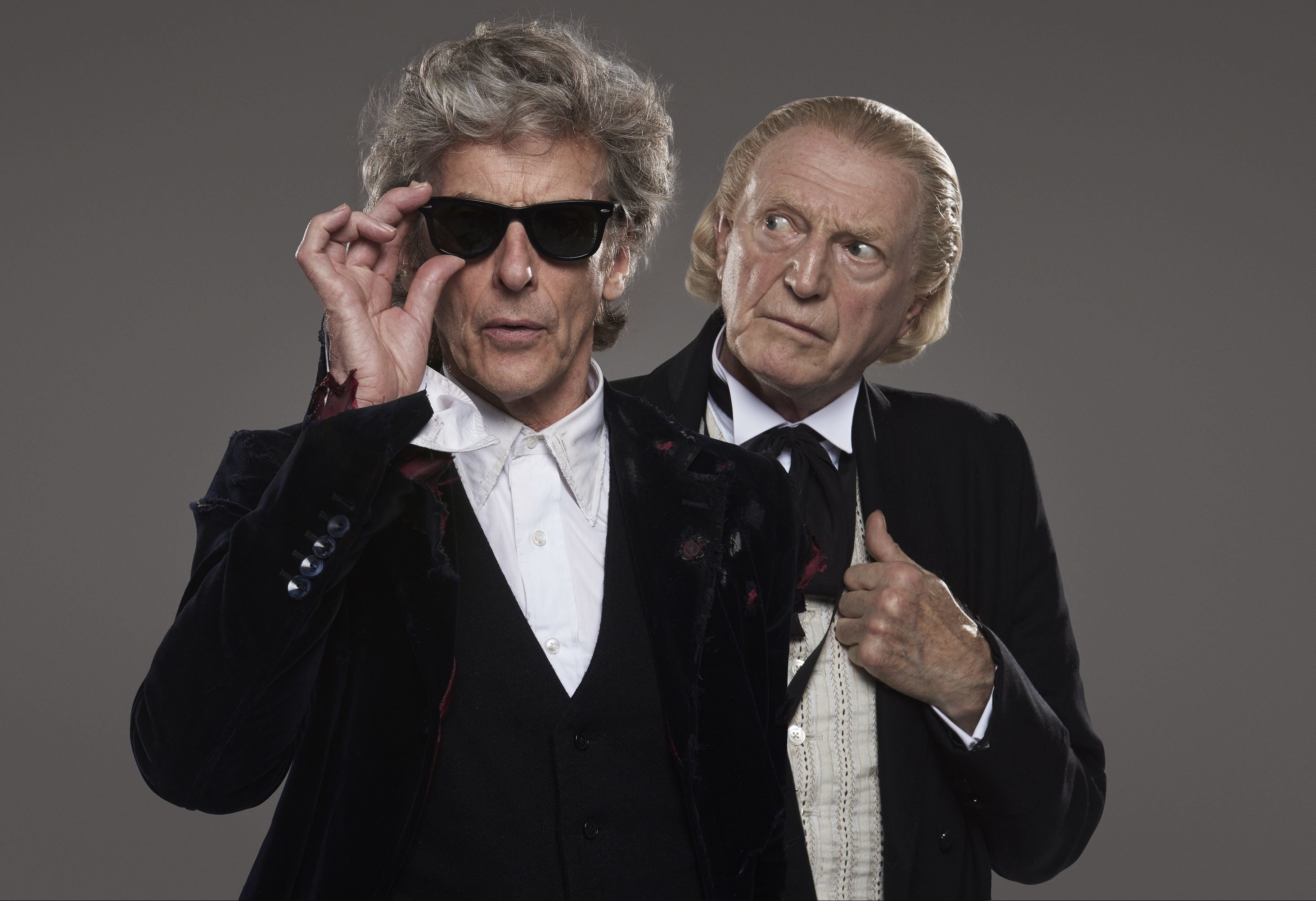 The Doctor (Peter Capaldi) and the First Doctor (David Bradley). (BBC/PA Wire)