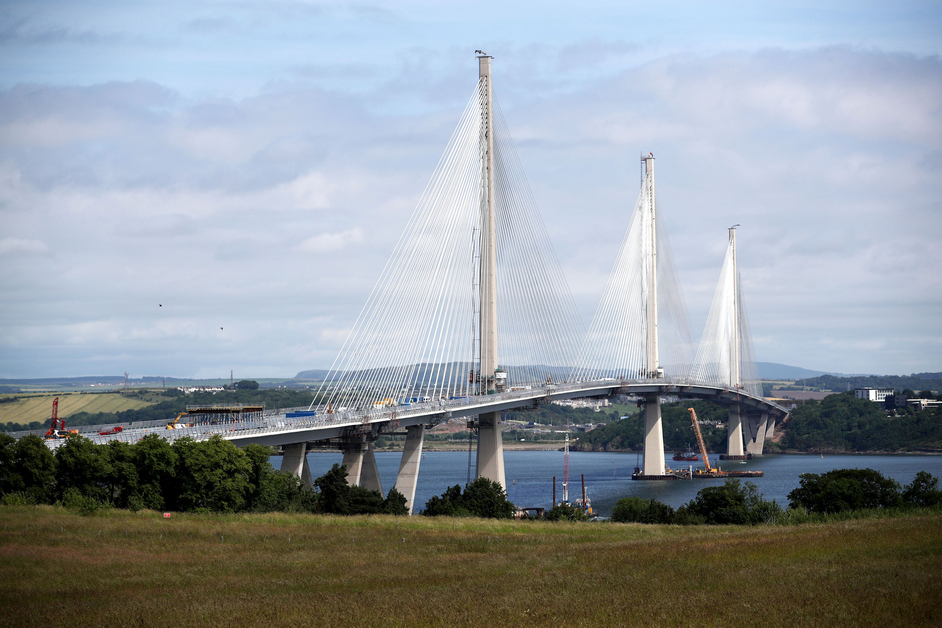 """More than 220,000 people have applied for 50,000 places for a """"once-in-a-lifetime"""" chance to walk over the new Queensferry Crossing (Jane Barlow/PA Wire)"""