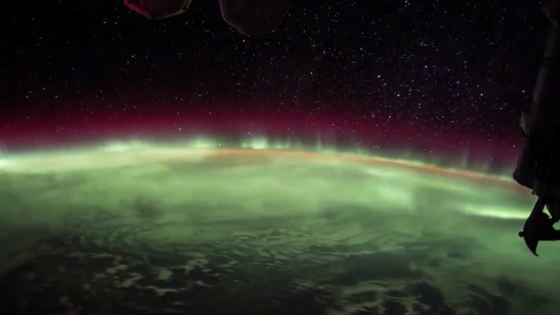 The Aurora Australis captured from the International Space Station (@Astro2fish/PA)