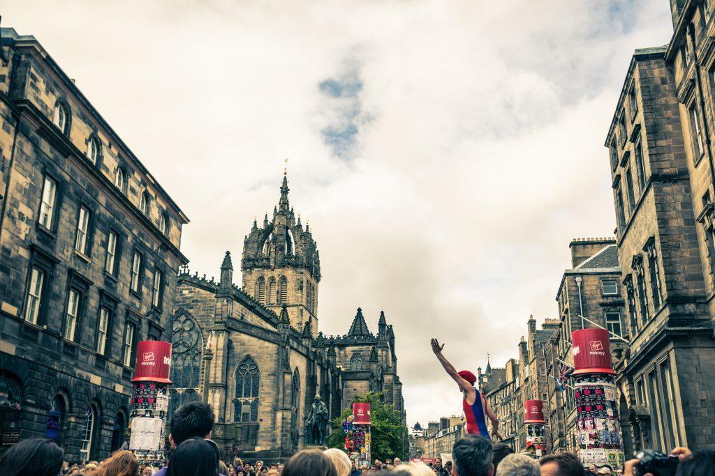 Edinburgh's Royal Mile during the Fringe Festival (iStock)