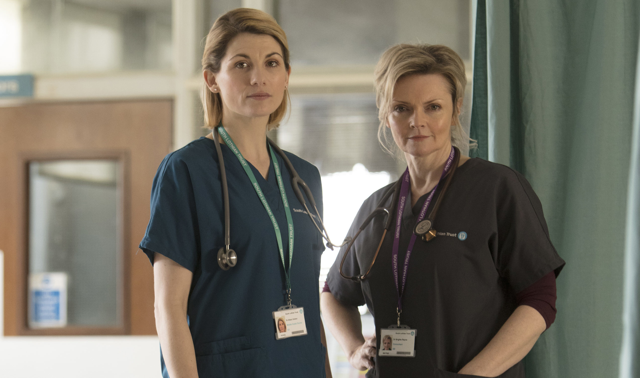 Jodie Whittaker and Sharon Small in the first series of Trust Me (Red Productions / Mark Mainz)