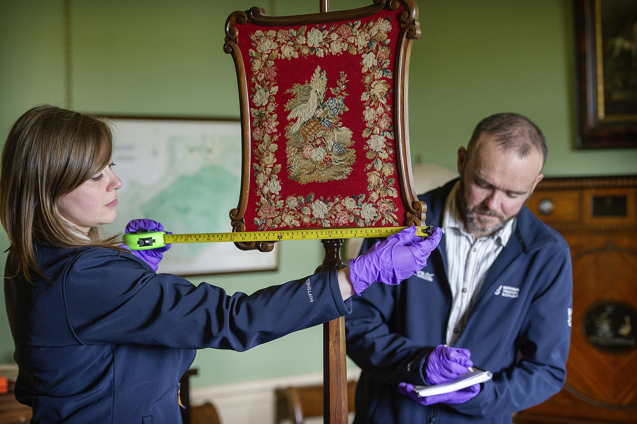 Sarah Heaton, Team manager for West, with John MacKenzie, National Trust for Scotland team manager reveal inventory project, South West. (Peter Sandground)