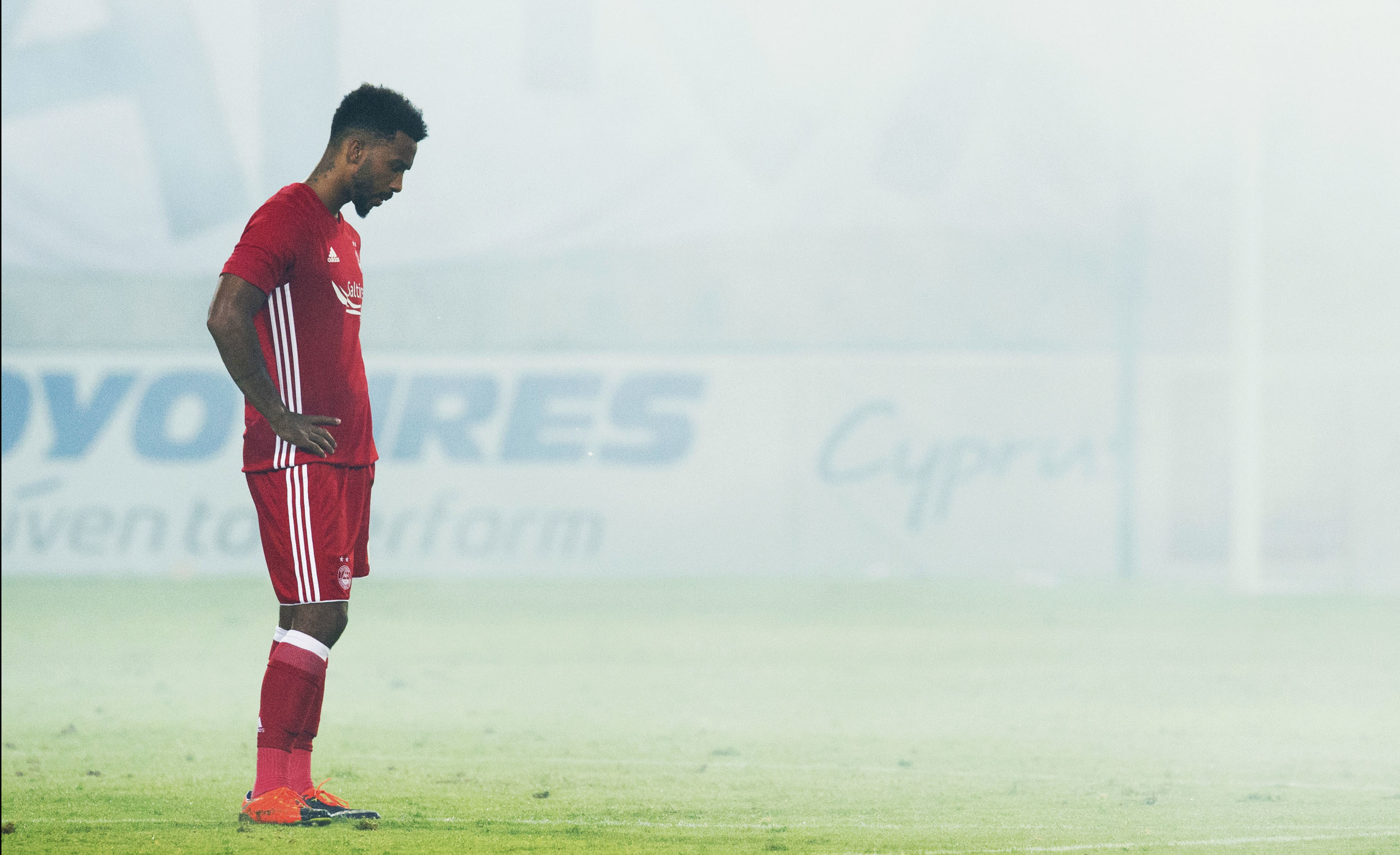 Aberdeen's Shay Logan at full-time (SNS Group / Craig Foy)